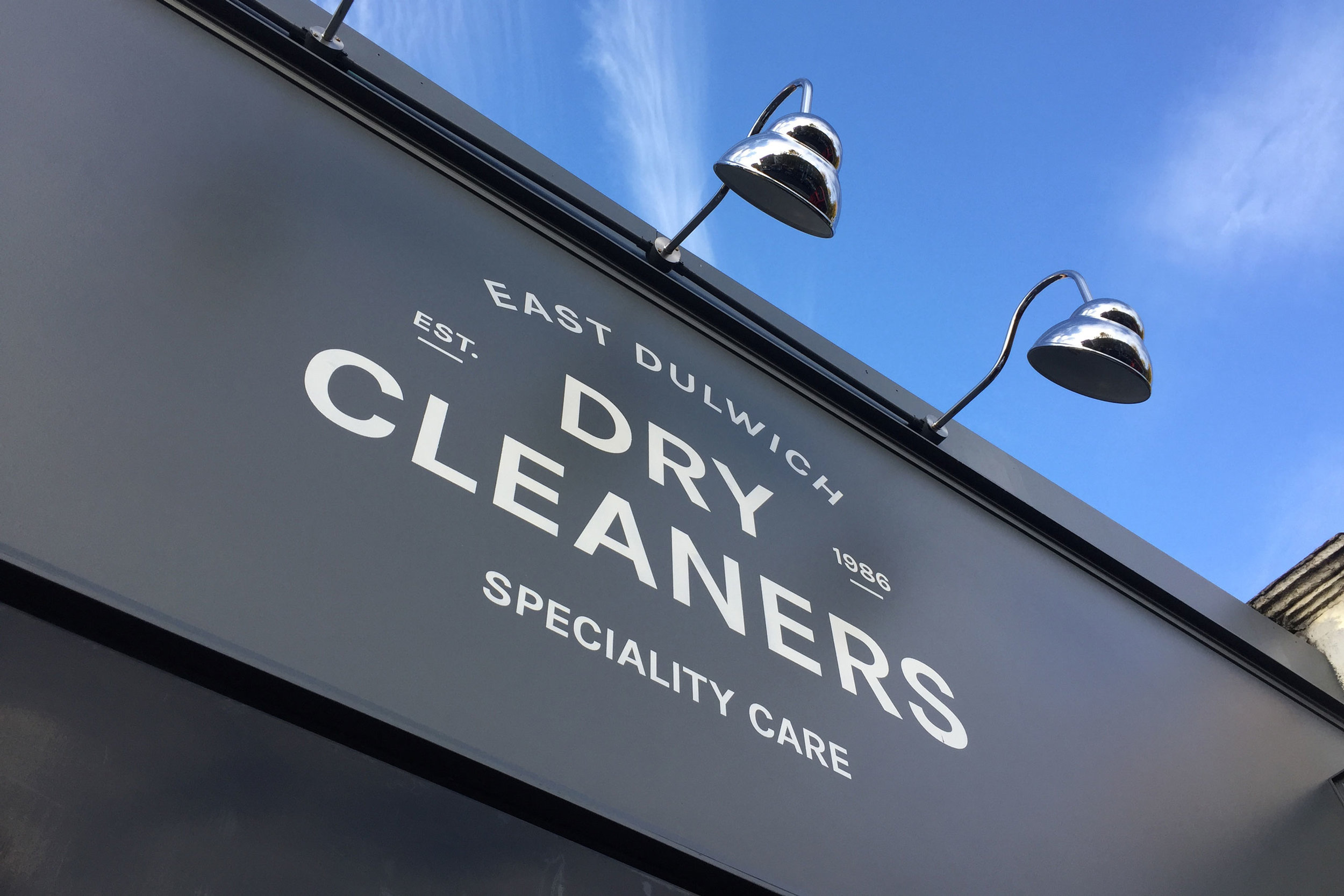 Small business graphic design for East Dulwich Dry Cleaners