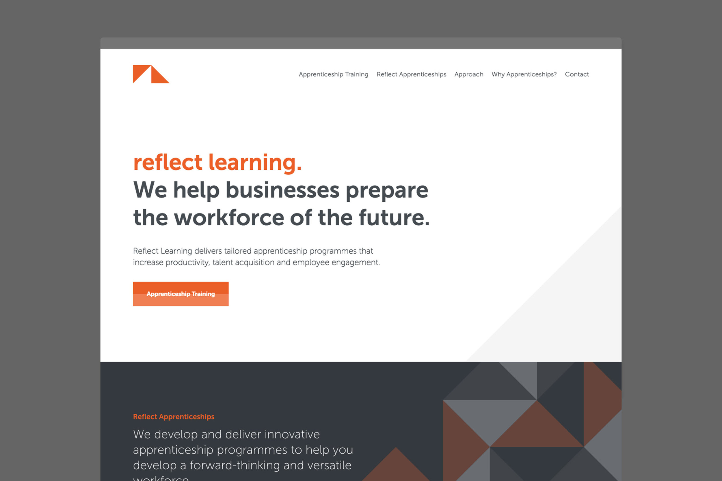 Brand identity for Reflect Learning for website