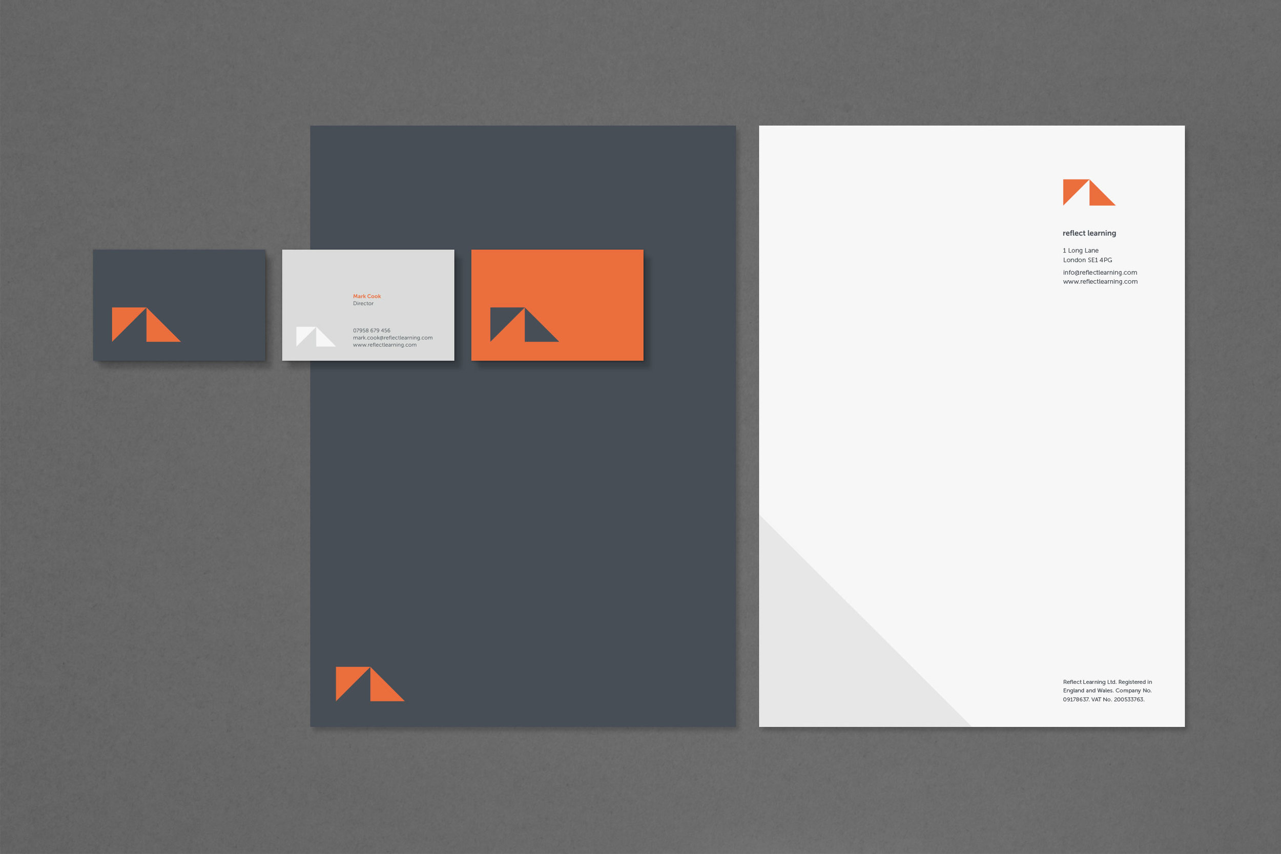 Brand identity for Reflect Learning for print
