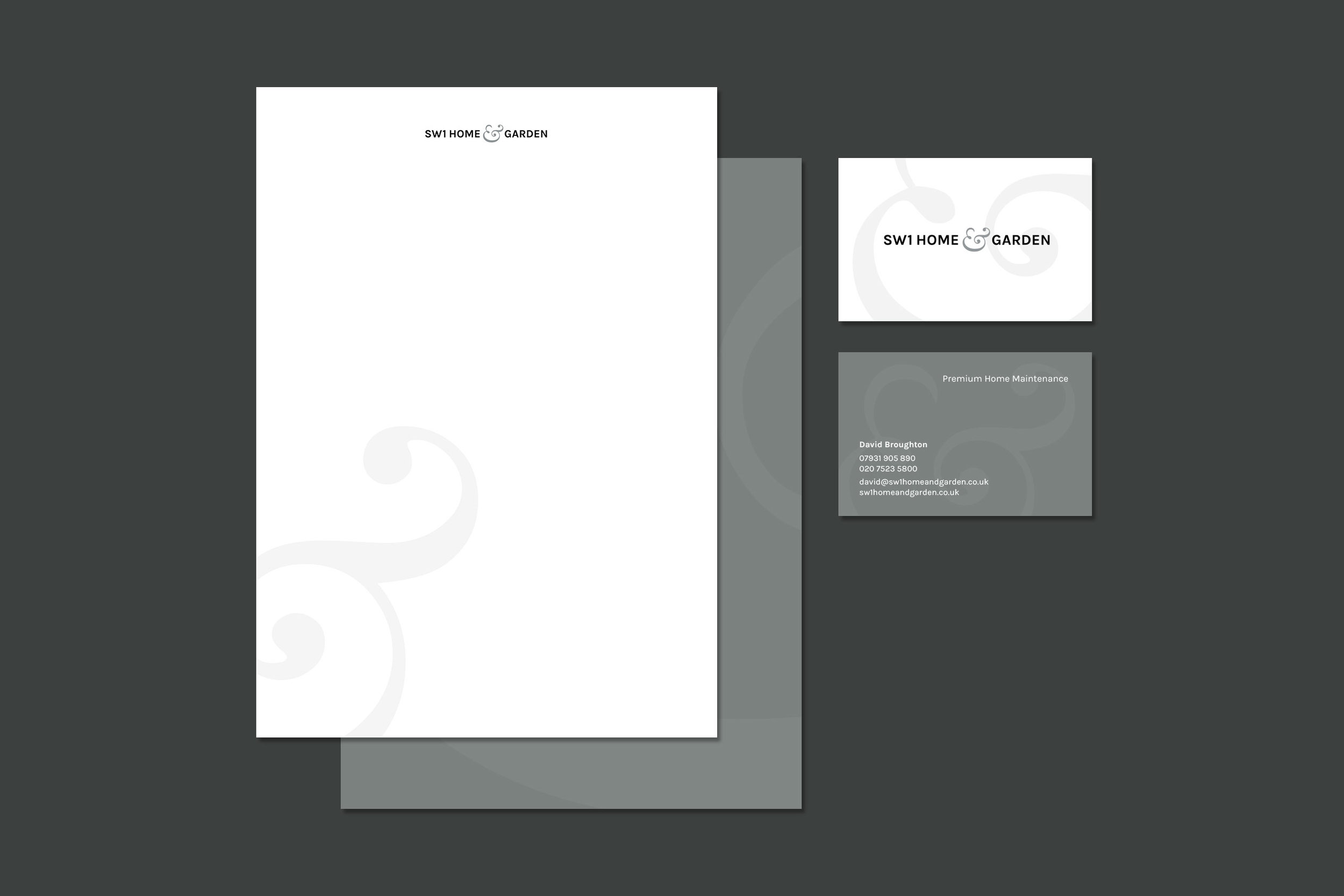 Brand identity for SW1 Home & Garden London for print