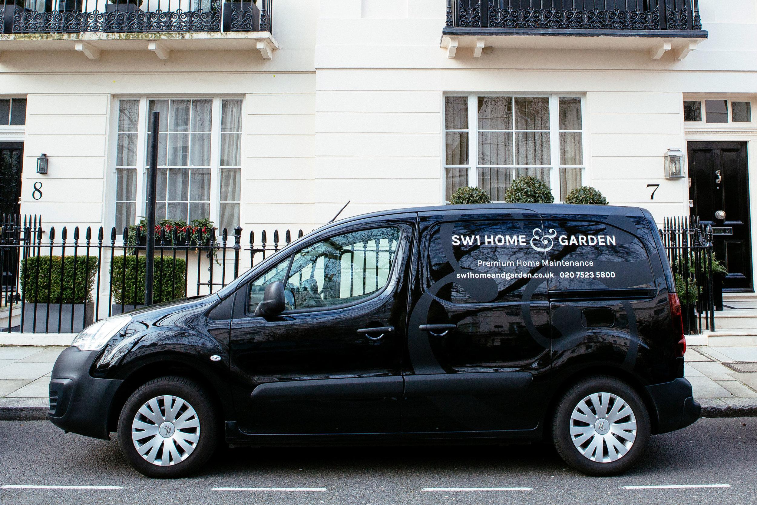 Branding design for SW1 Home & Garden vehicles