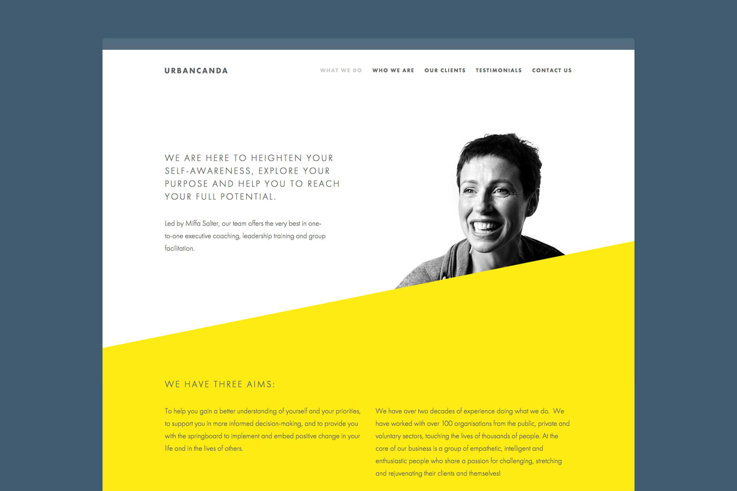 Branding design for Urbancanda for web London