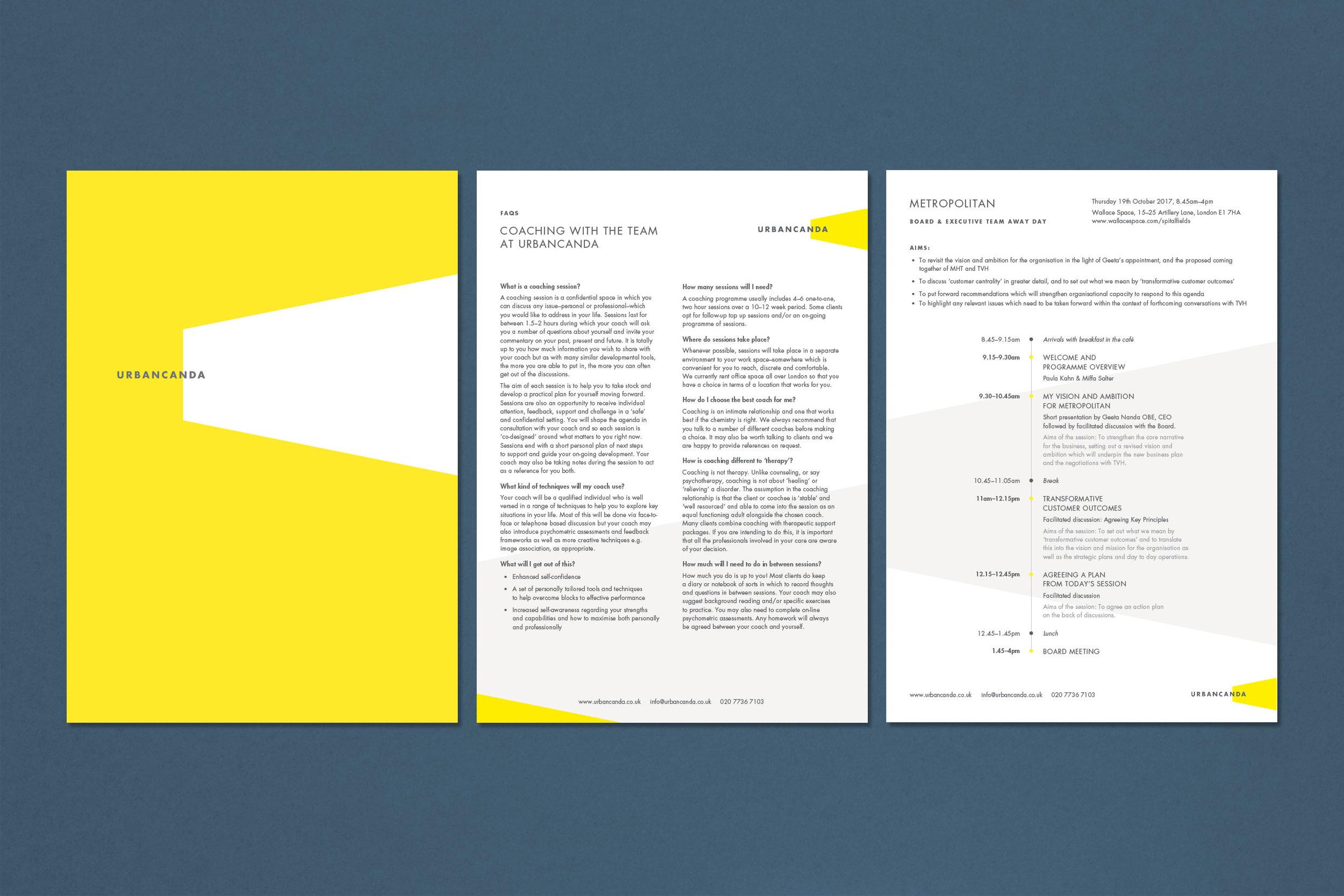 Branding design for Urbancanda for print