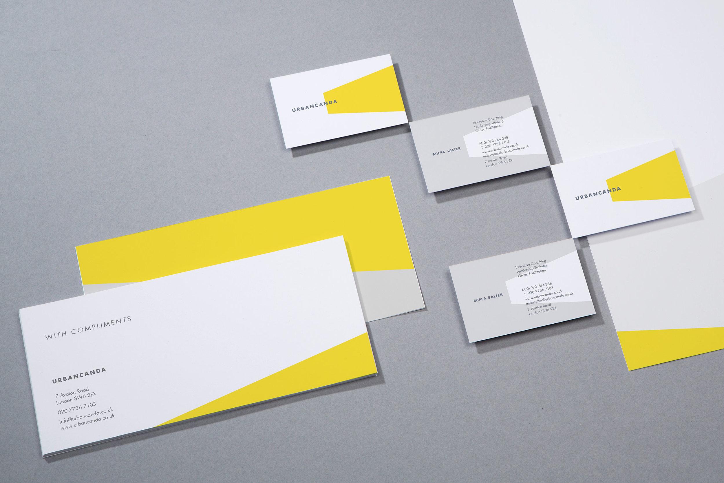 Brand identity for Urbancanda for stationery