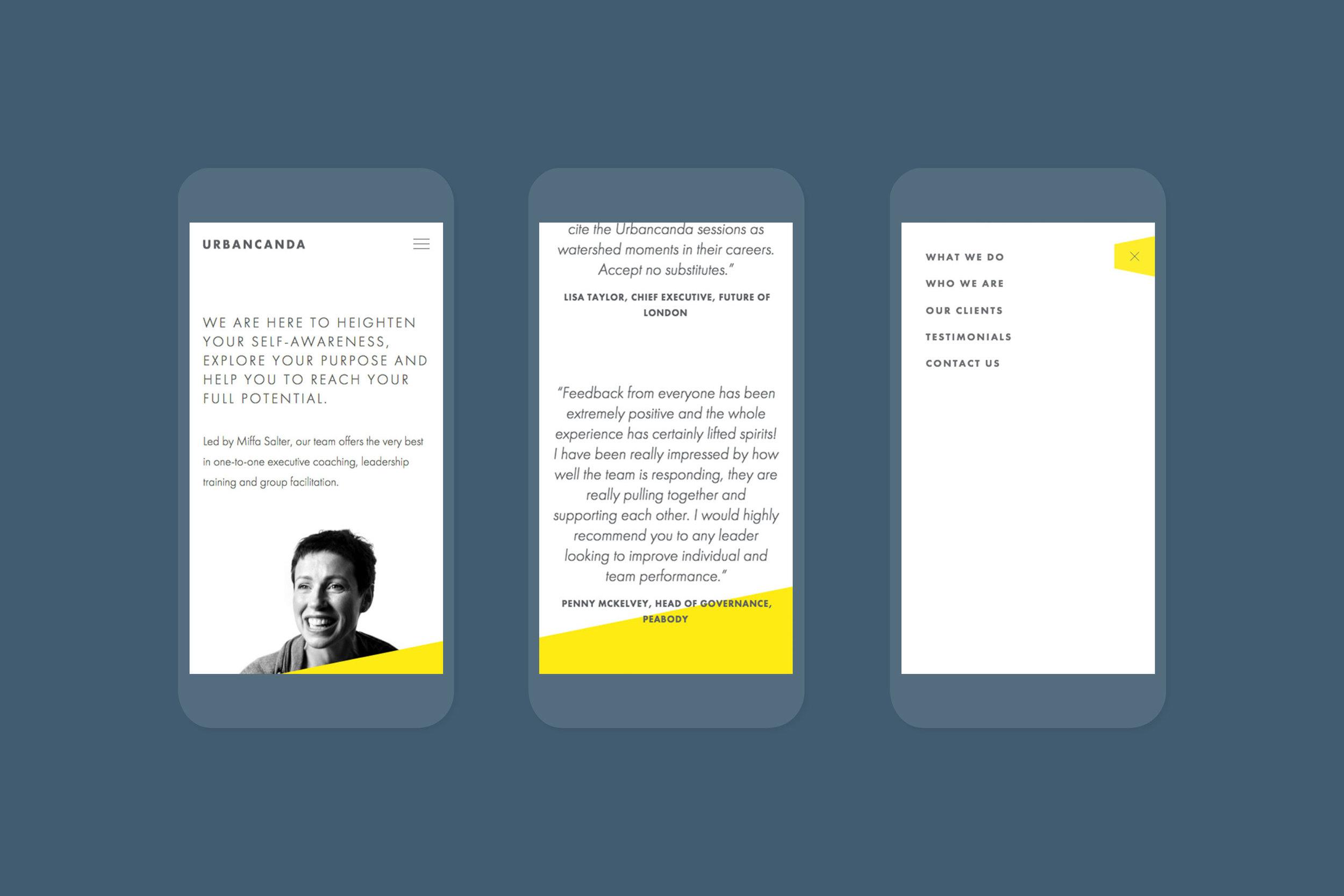 Digital branding design for Urbancanda for web