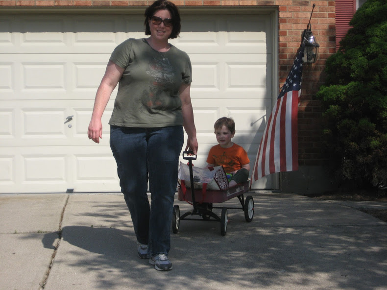 My first campaign for Central Committee in 2010, going door to door with my son Zack.