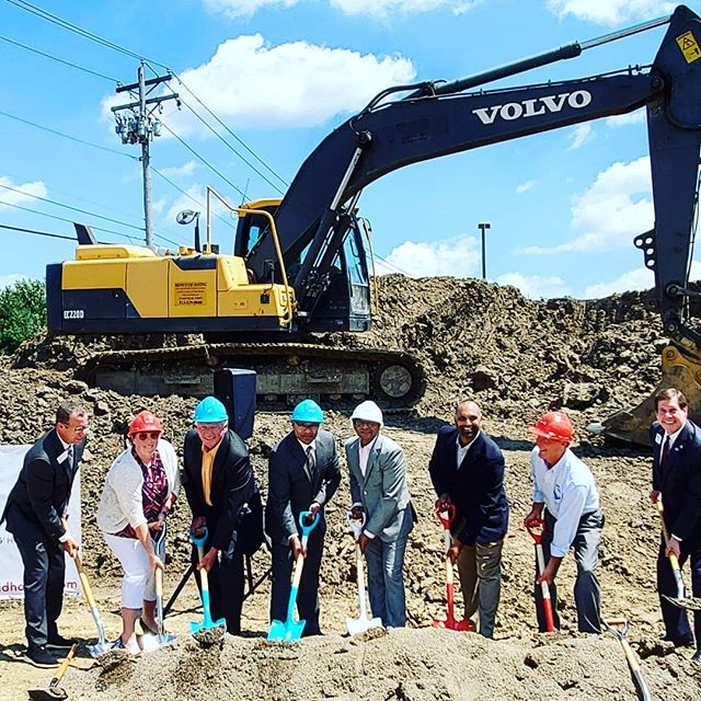 Ground breaking for the new Avid Hotel on Lakota Dr at the bottom of Eagle Ridge.