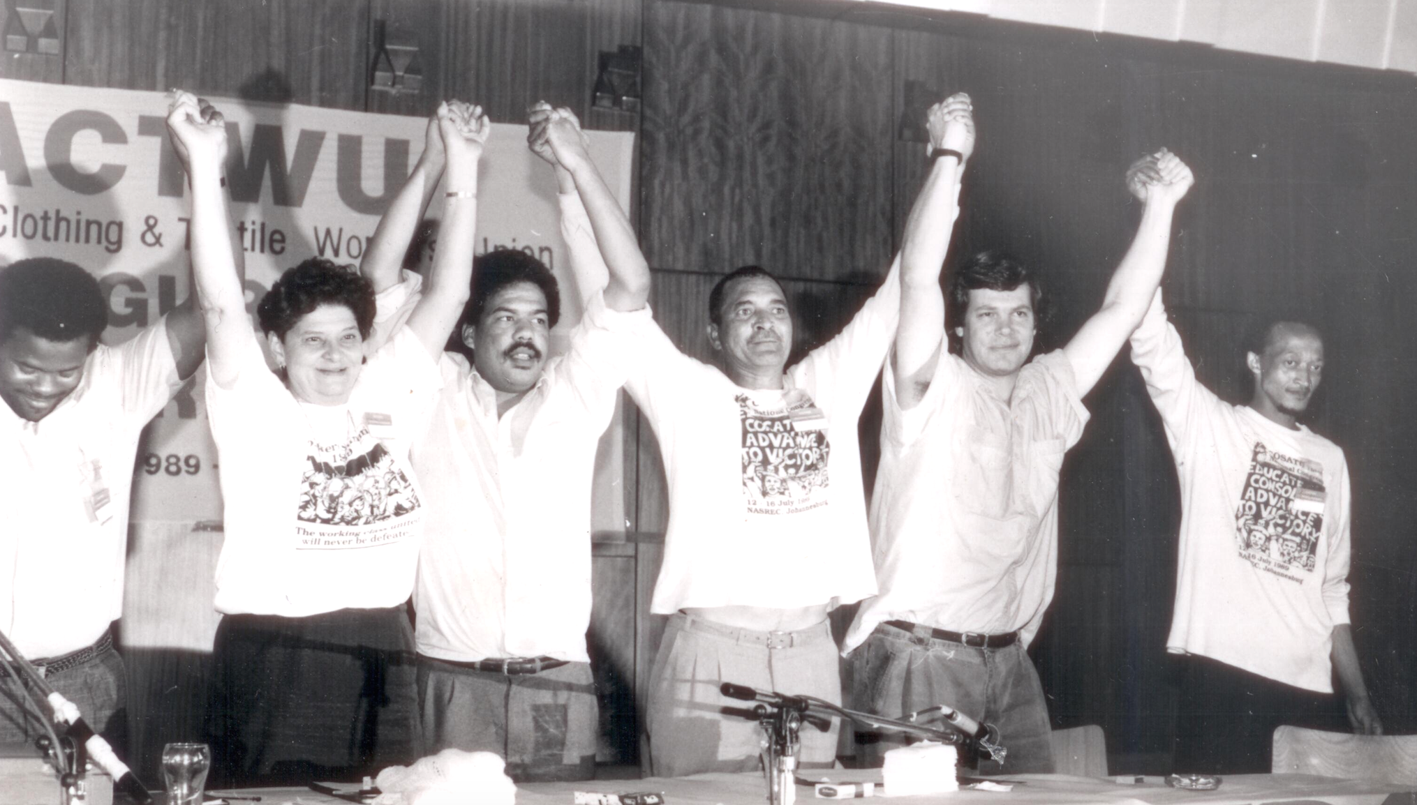 """1989 merger to form SACTWU: """"We had found each other at last."""""""