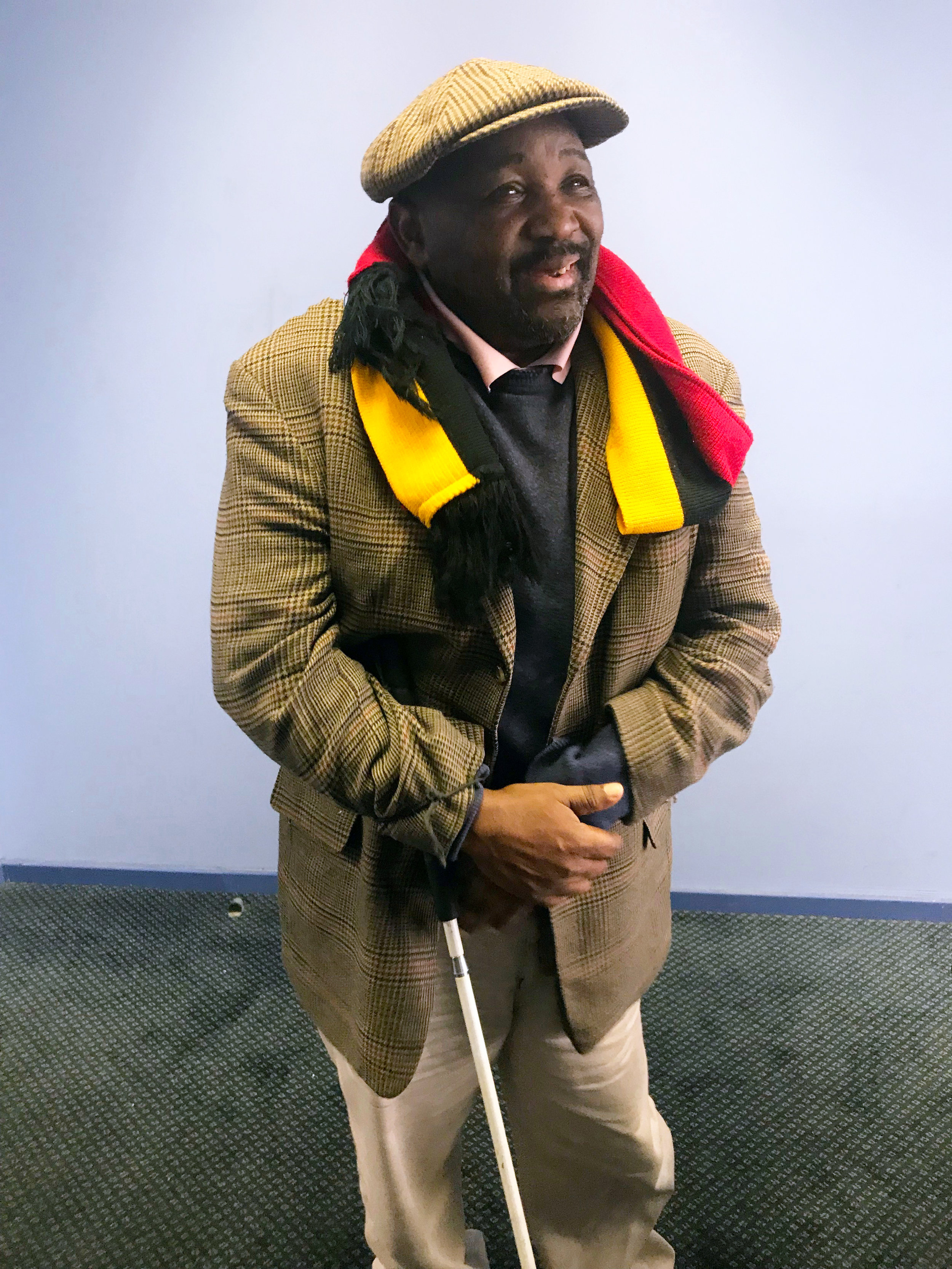 Monroe at SACTWU offices after our interview in June 2018.