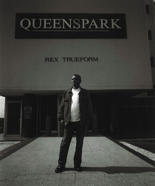 Clive Nolte outside Rex Trueform, Salt River, Cape Town, September 2009