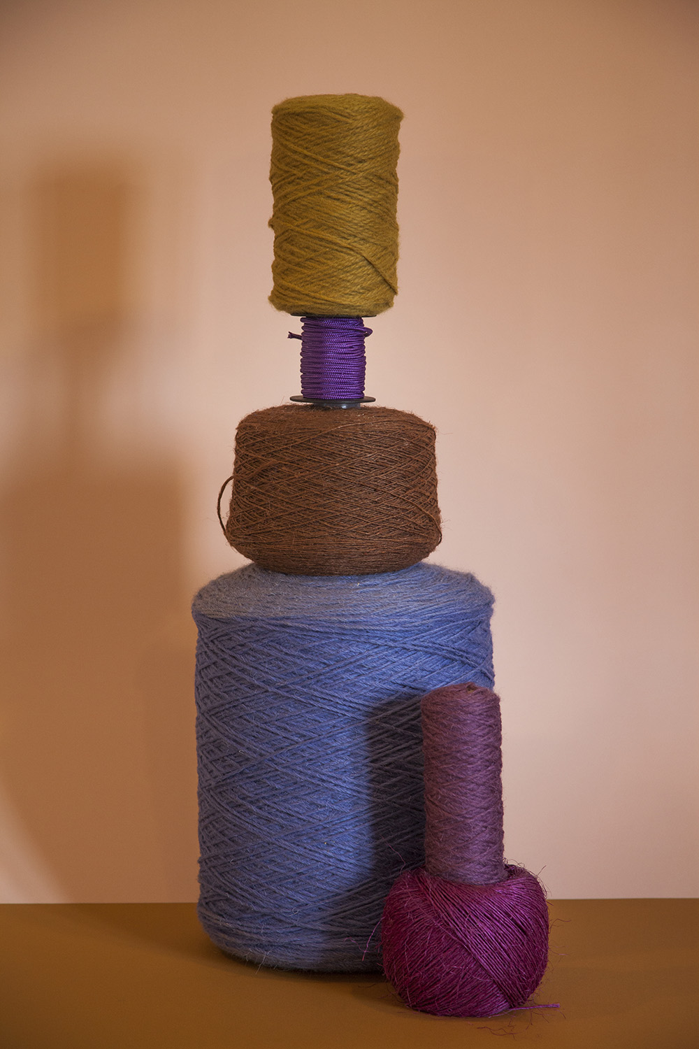 Compose - Is a continuous research in weaving. Playing with colours and materials to design textile for the interiors.