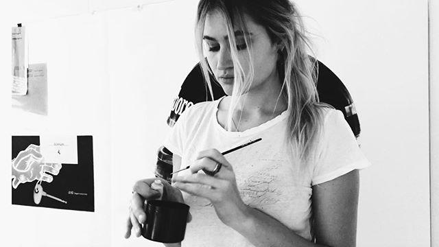 Studio time • paper, pencils, paint, Porsche 2018