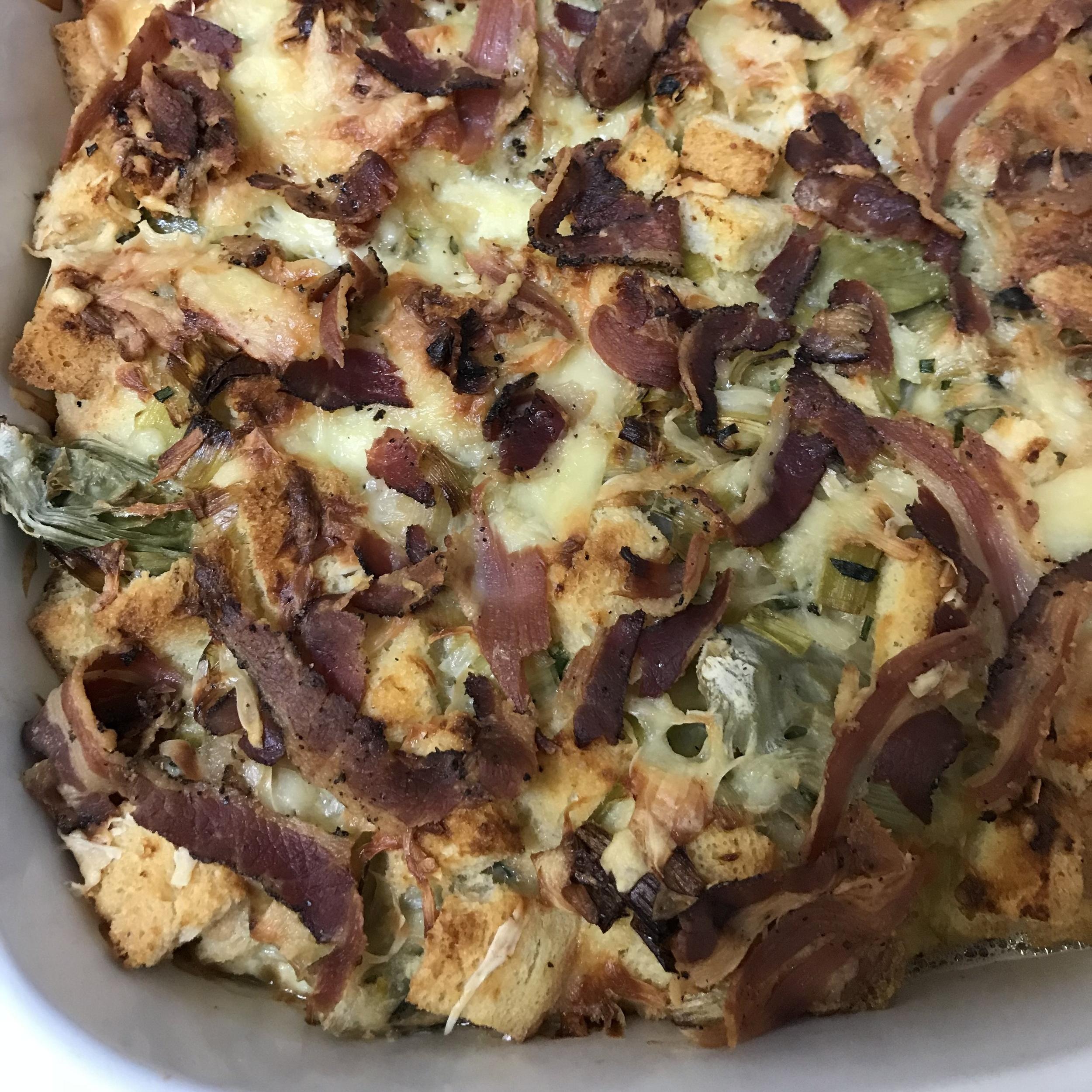 Leek & Artichoke Bread Pudding . Make It Ahead . Week 1
