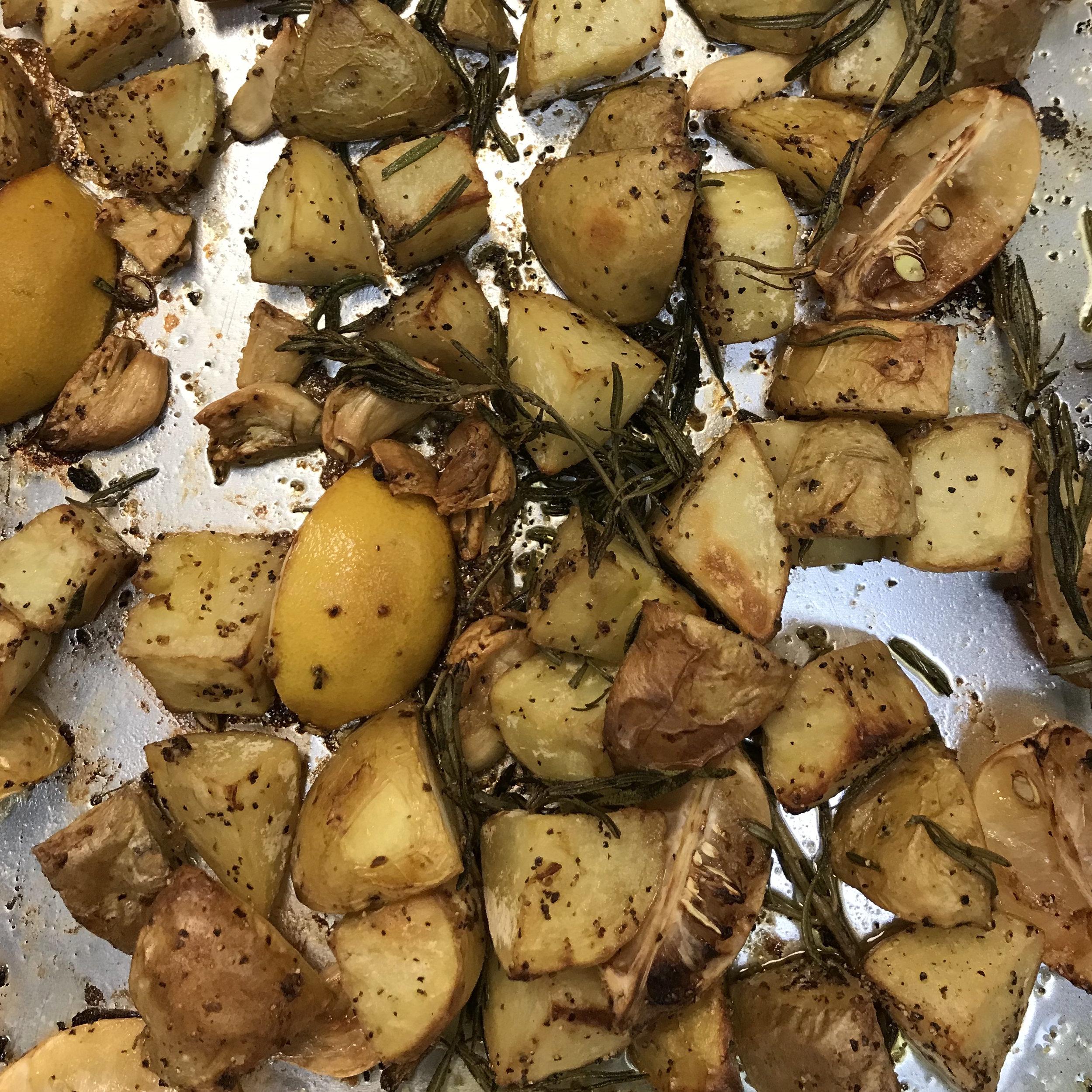 Tuscan Roasted Potatoes & Lemon . Cooking for Jeffrey . Week 2