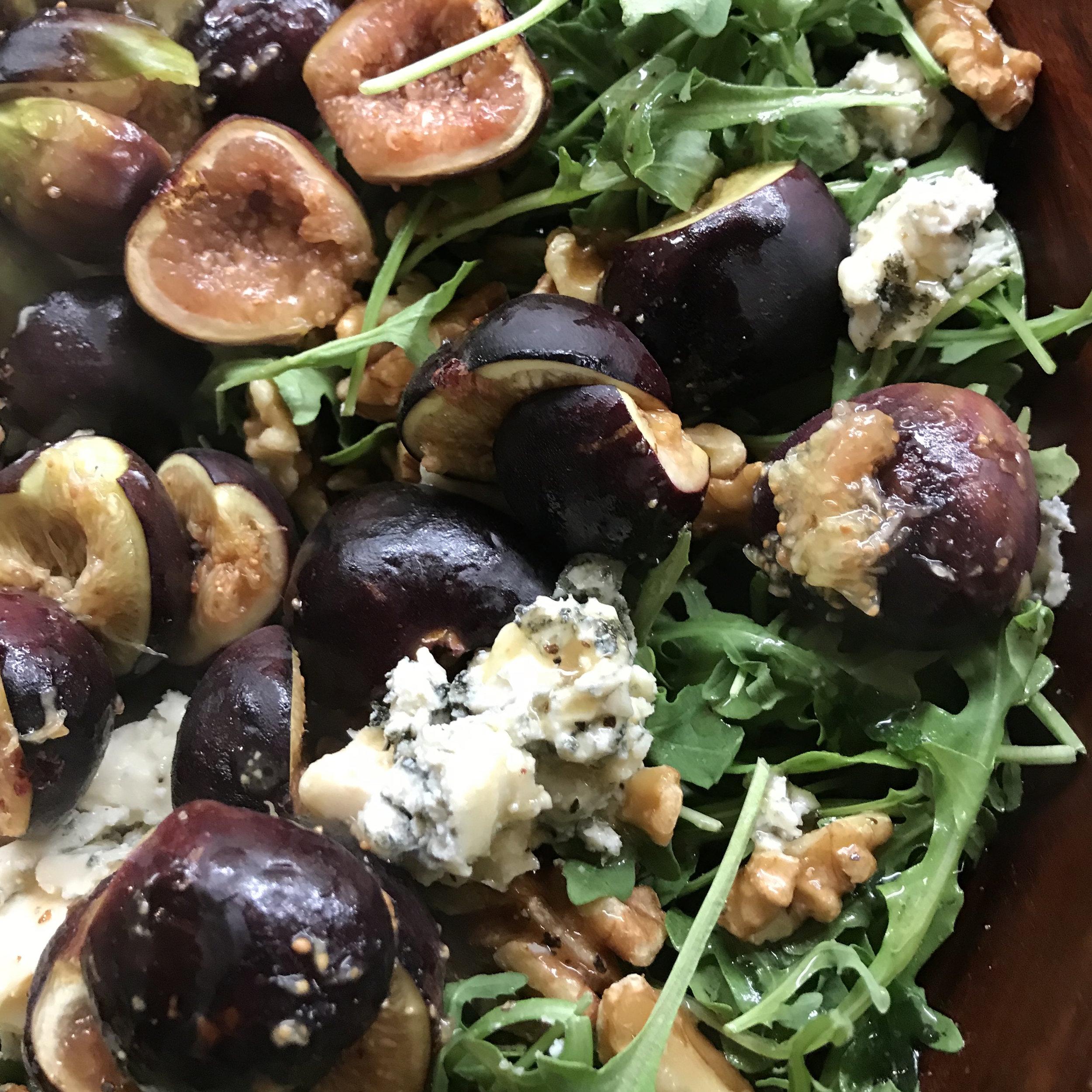 Warm Fig & Arugula Salad . Make It Ahead . Week 2