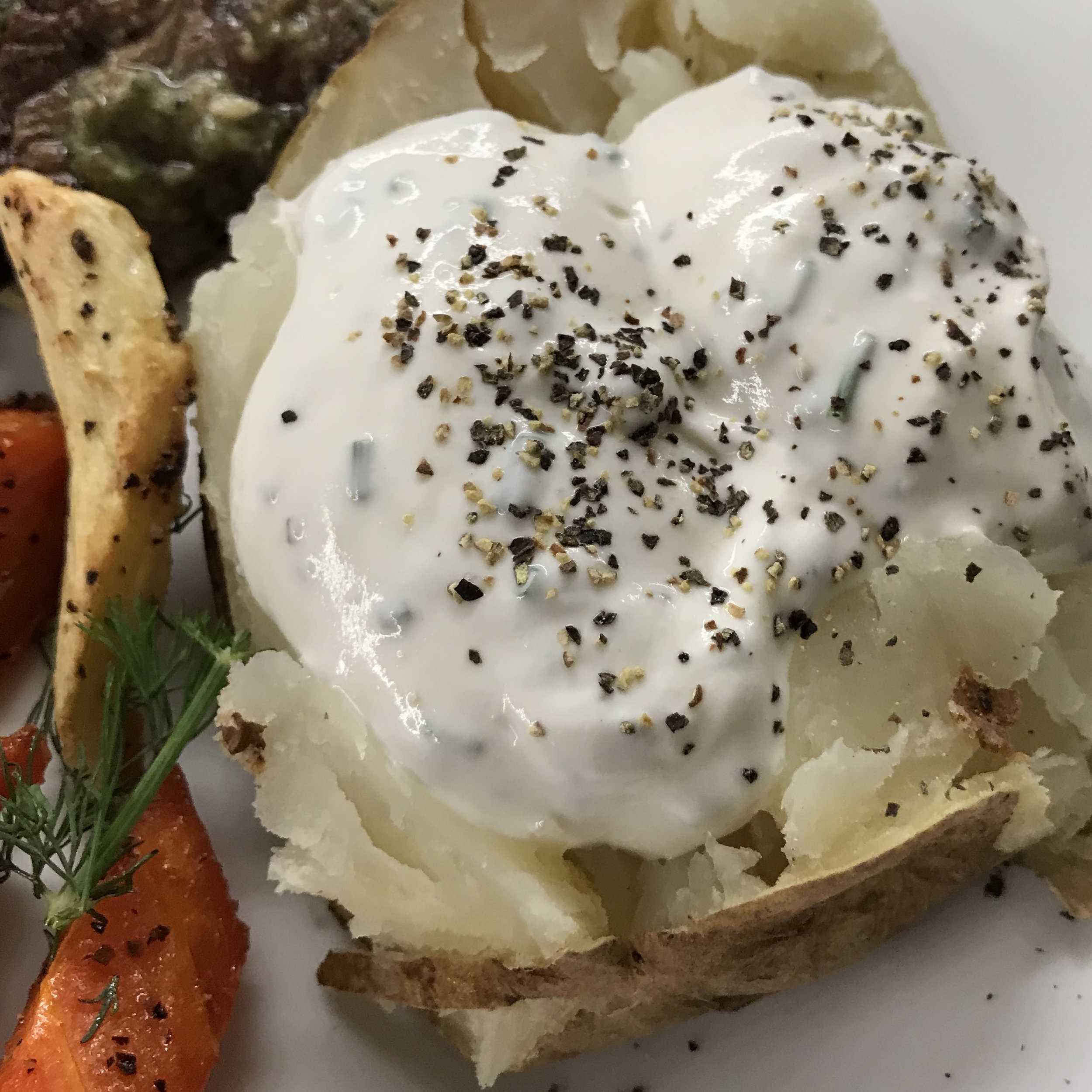 Baked Potatoes with Yogurt & Sour Cream . Back to Basics . Week 3
