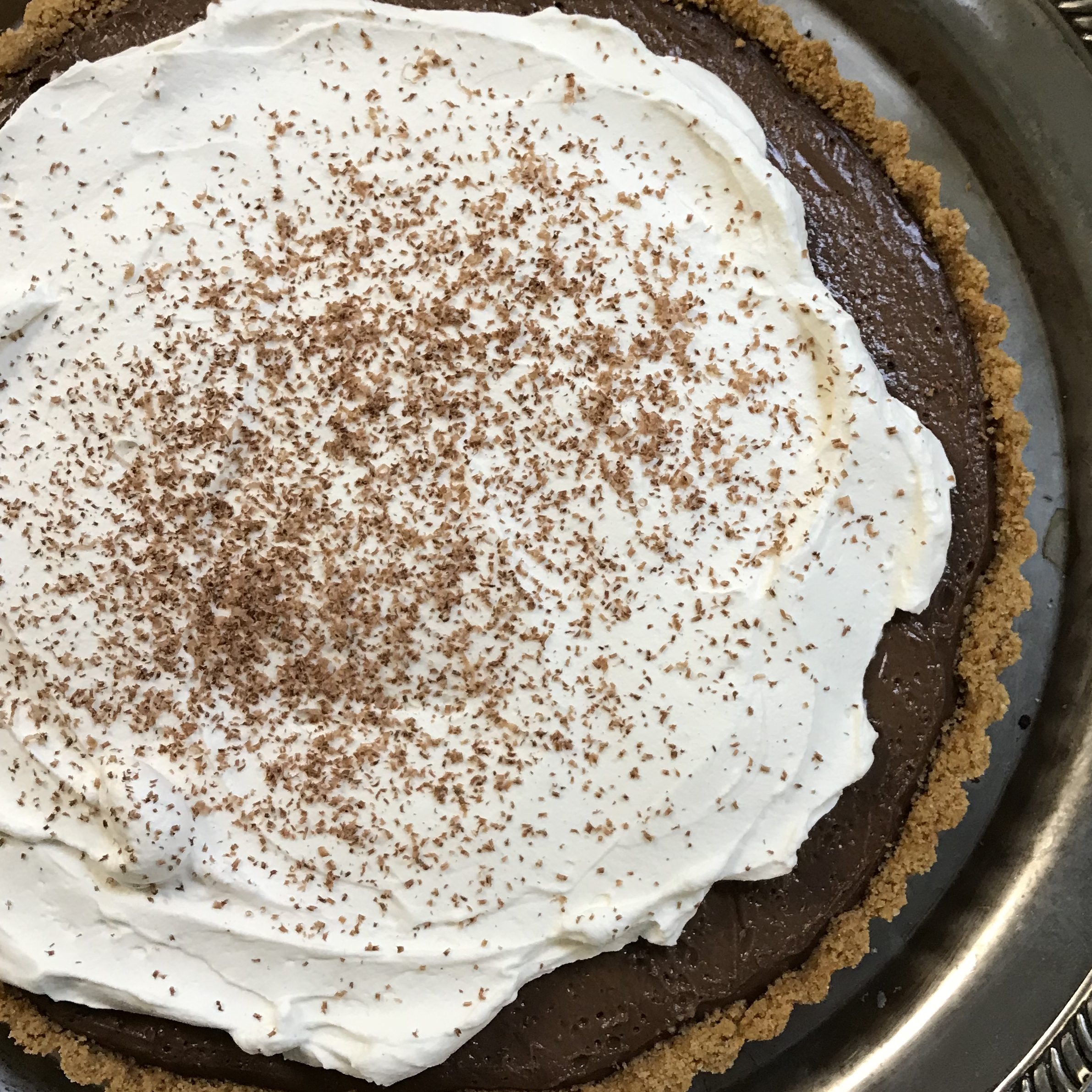 Chocolate Pudding Cream Tart . How Easy Is That? . Week 3