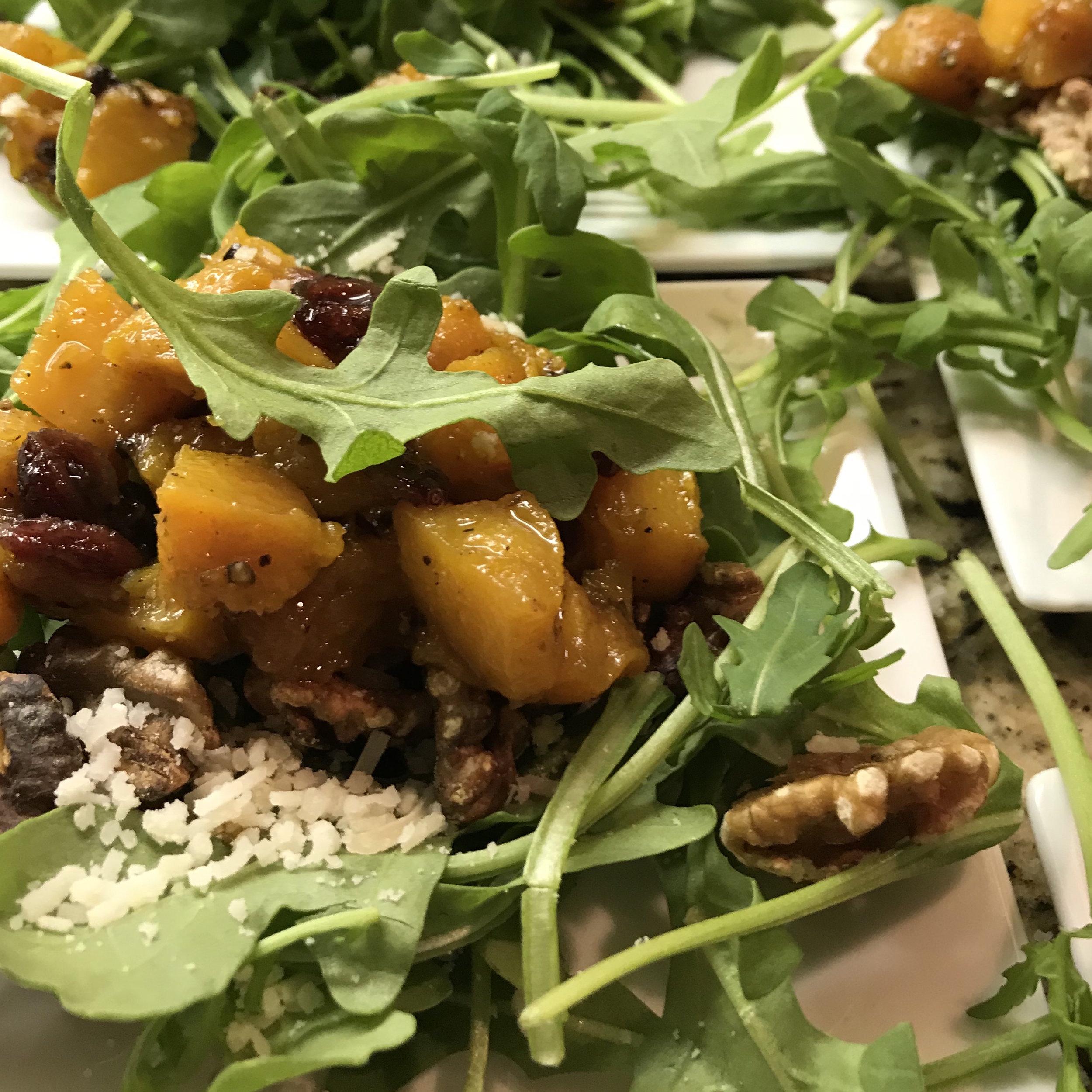 Roasted Butternut Squash Salad with Warm Cider Vinaigrette . Back to Basics . Week 8