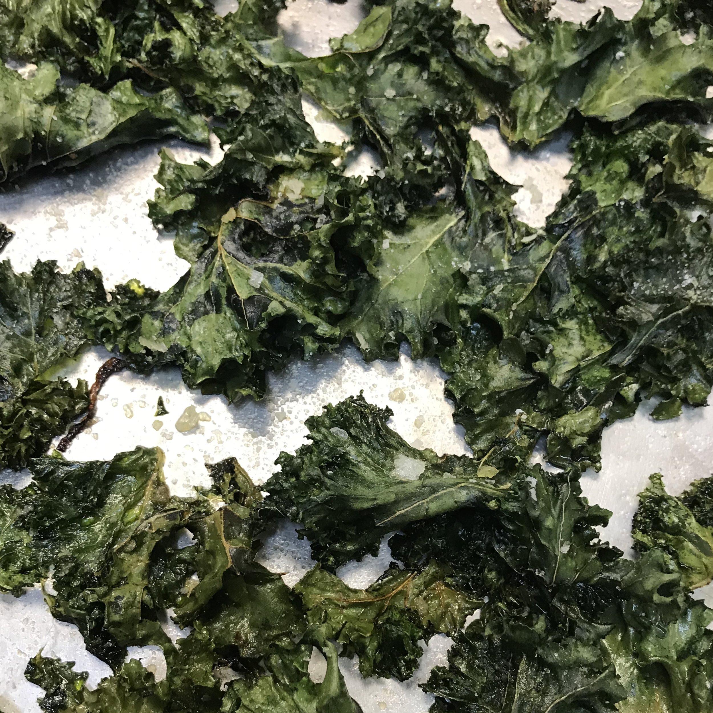 Crispy Roasted Kale . Barefoot Contessa Foolproof . Week 19
