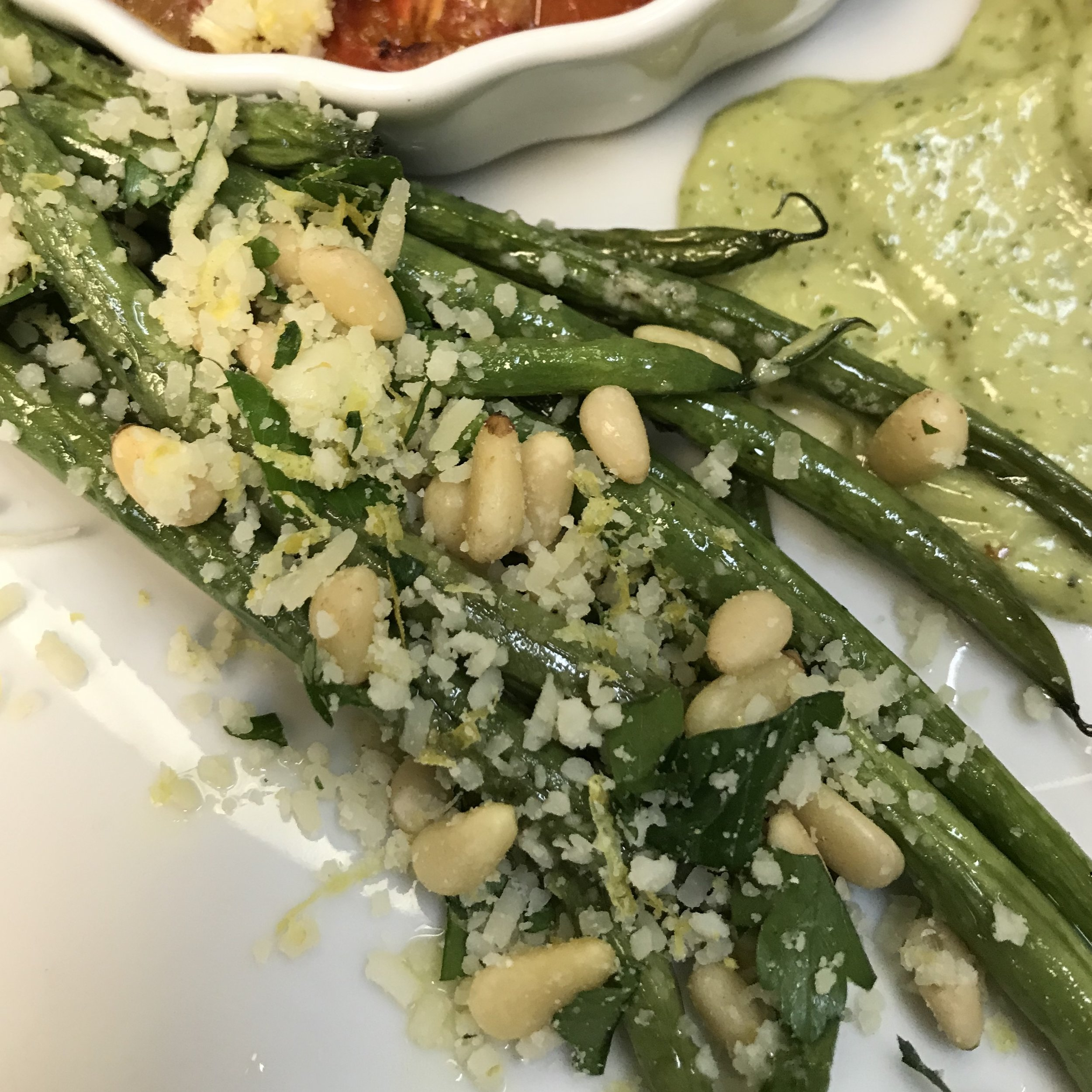 Green Beans Gremolata . Barefoot Contessa Foolproof . Week 19