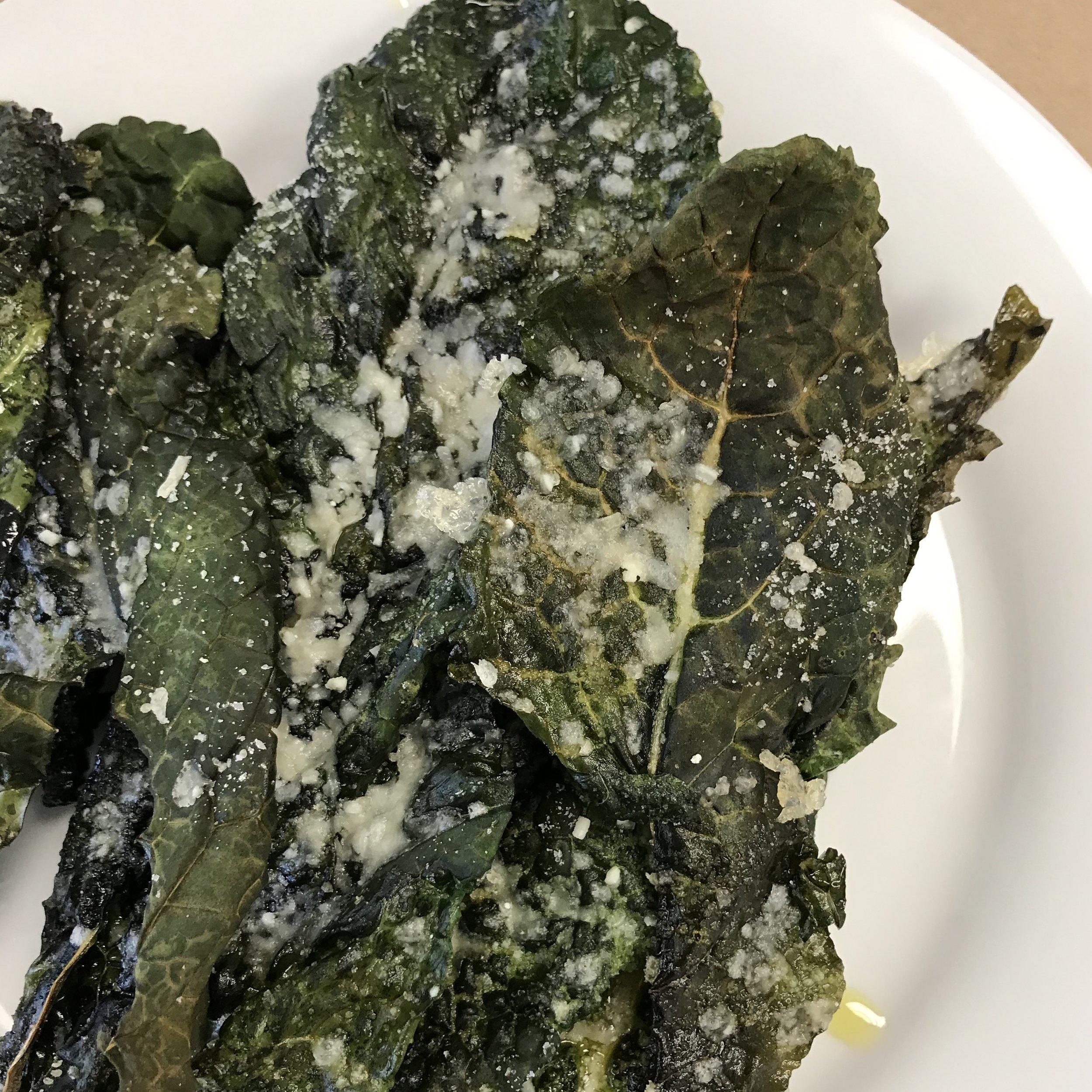 Parmesan Kale Chips . Make It Ahead . Week 20