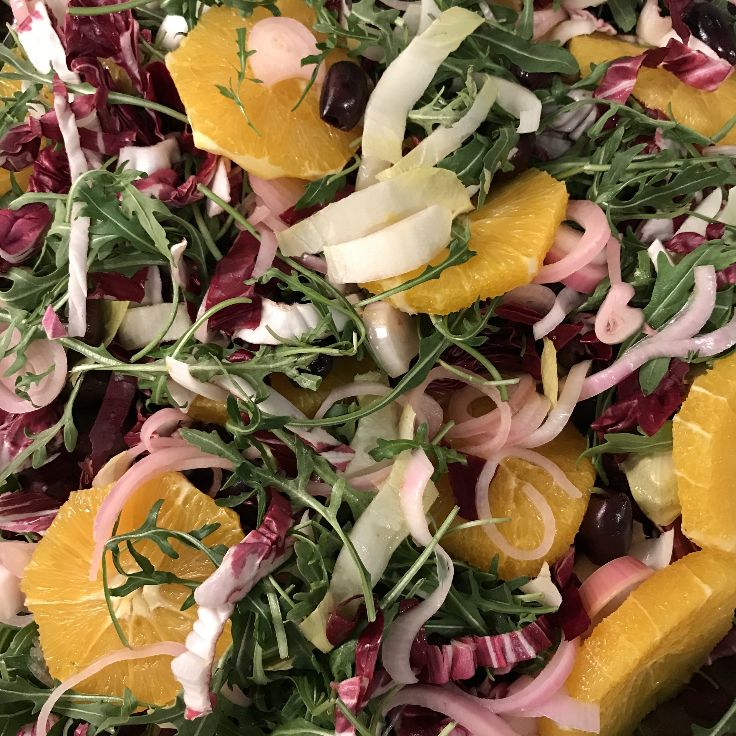 Tricolore Salad with Oranges . Cook Like A Pro . Week 20