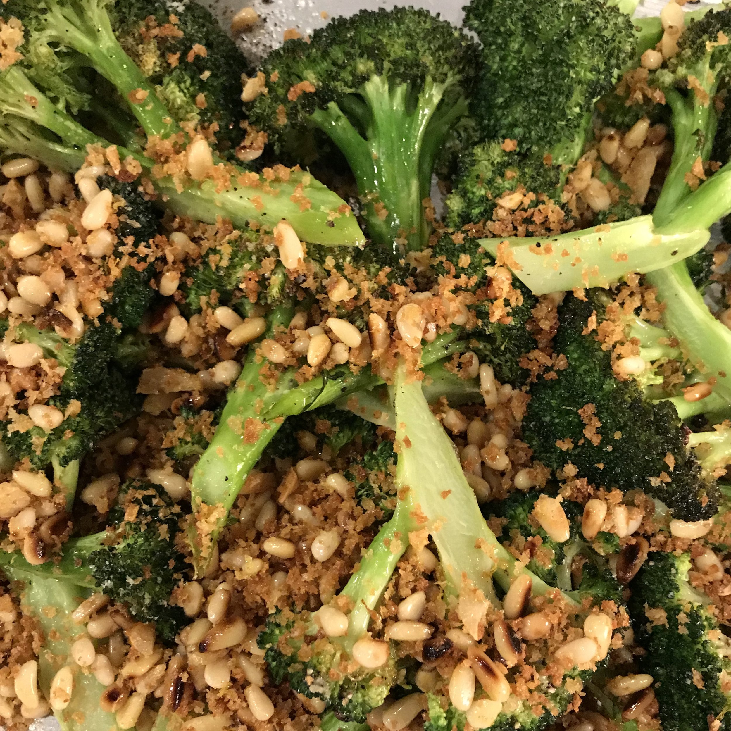 Roasted Broccoli with Panko Gremolata . Cook Like A Pro . Week 20