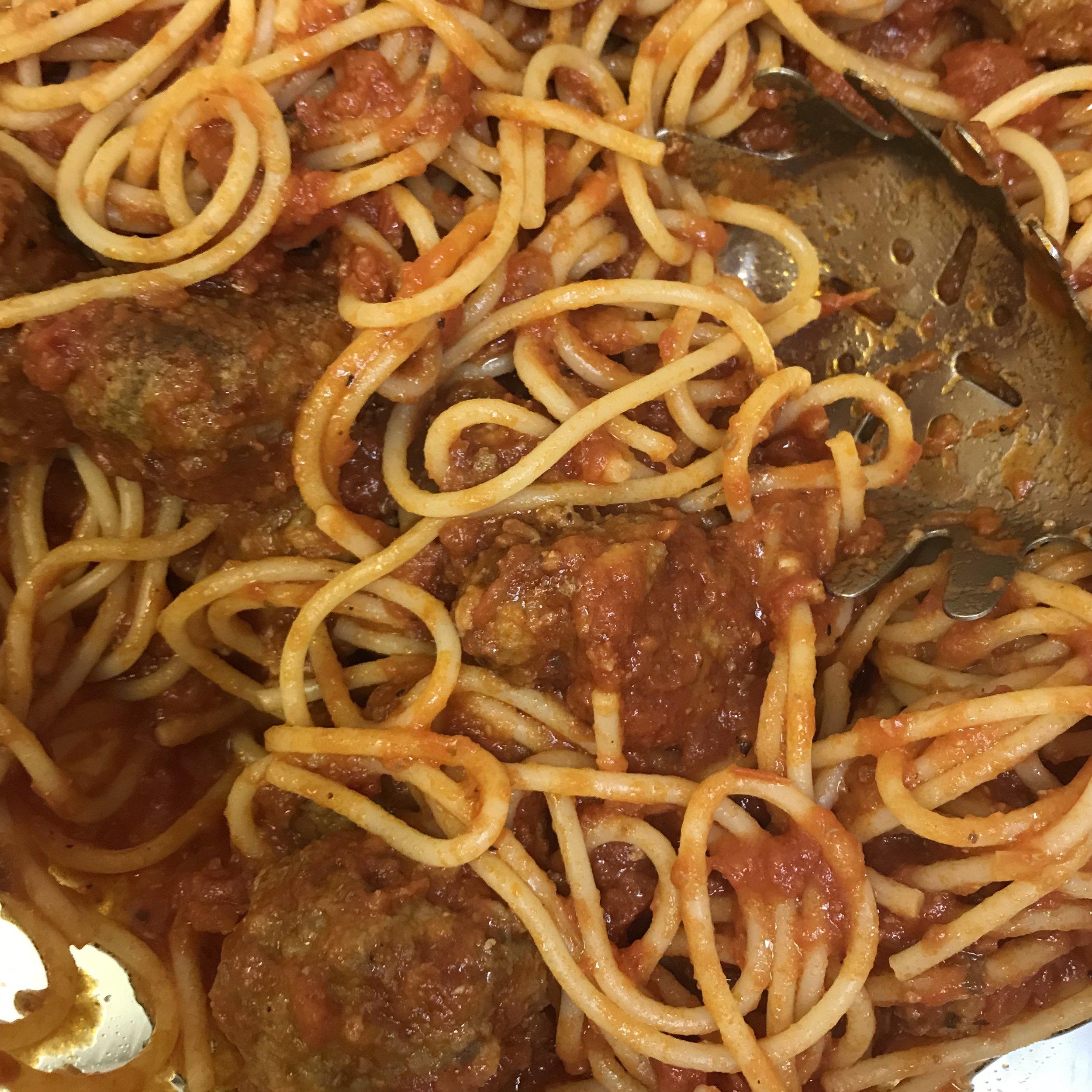 Real Meatballs & Spaghetti . Family Style . Week 21