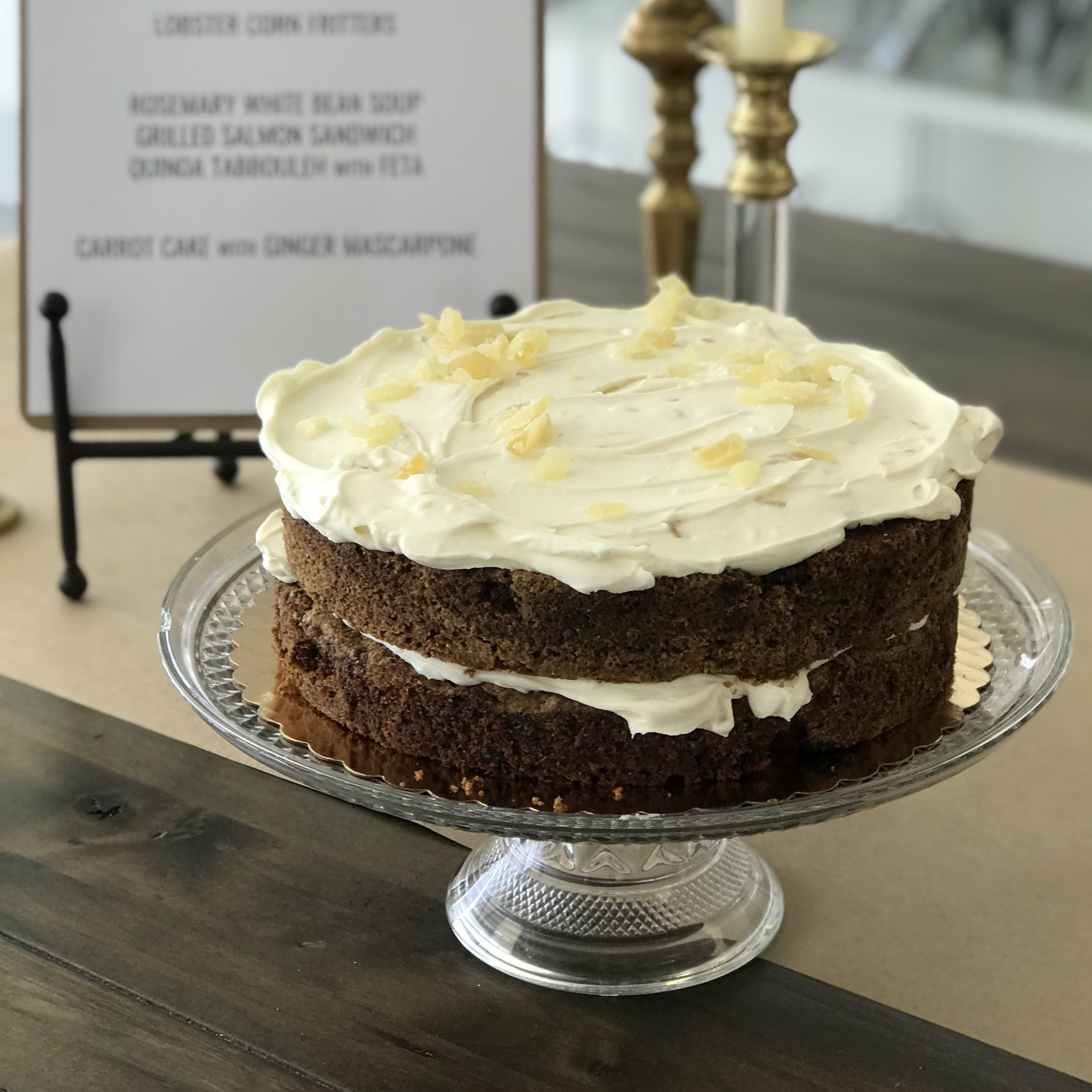 Carrot Cake with Ginger Mascarpone Frosting . Barefoot Contessa Foolproof . Week 22