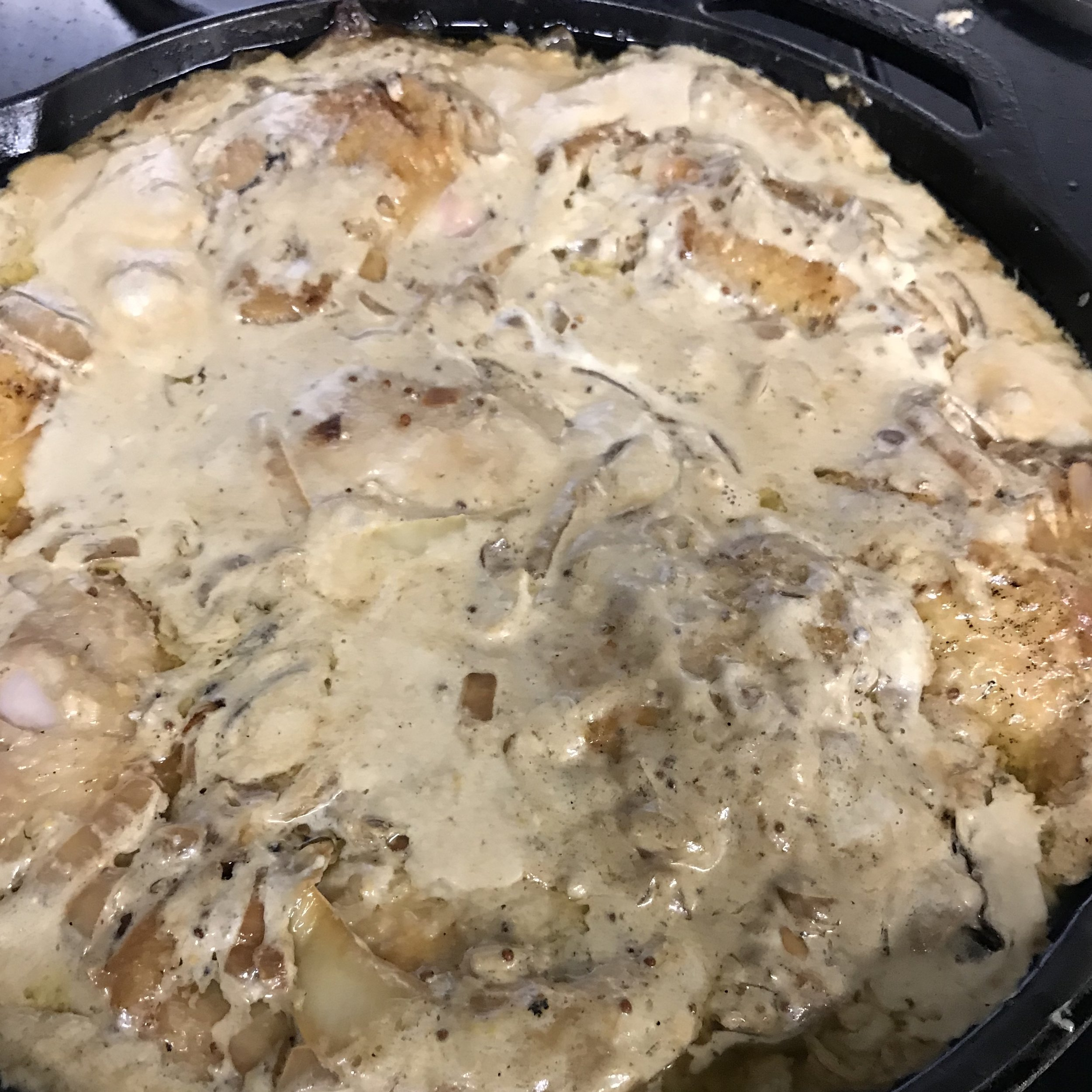 Chicken Thighs with Creamy Mustard Sauce . Cook Like A Pro . Week 22