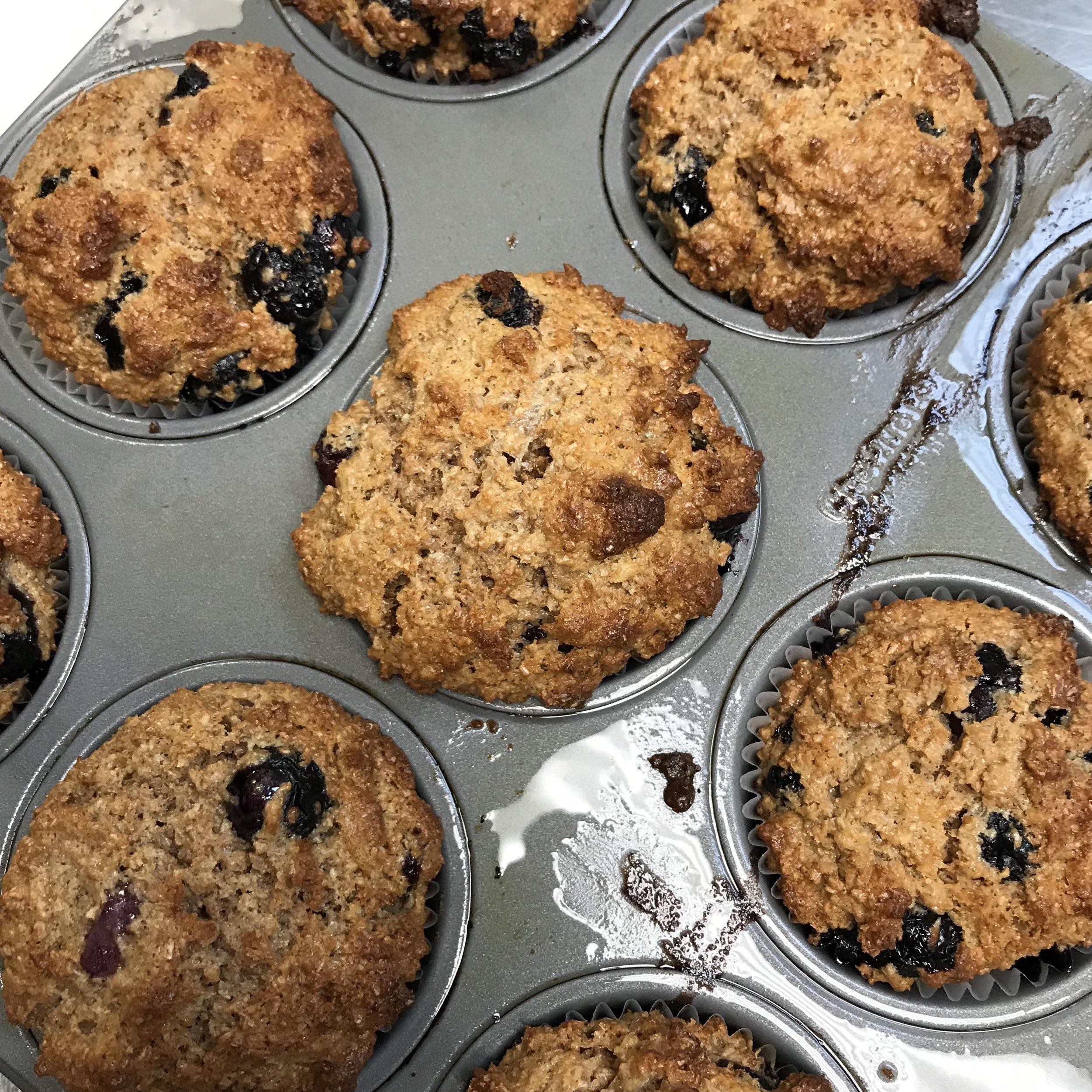 Blueberry Bran Muffins . Make It Ahead . Week 22