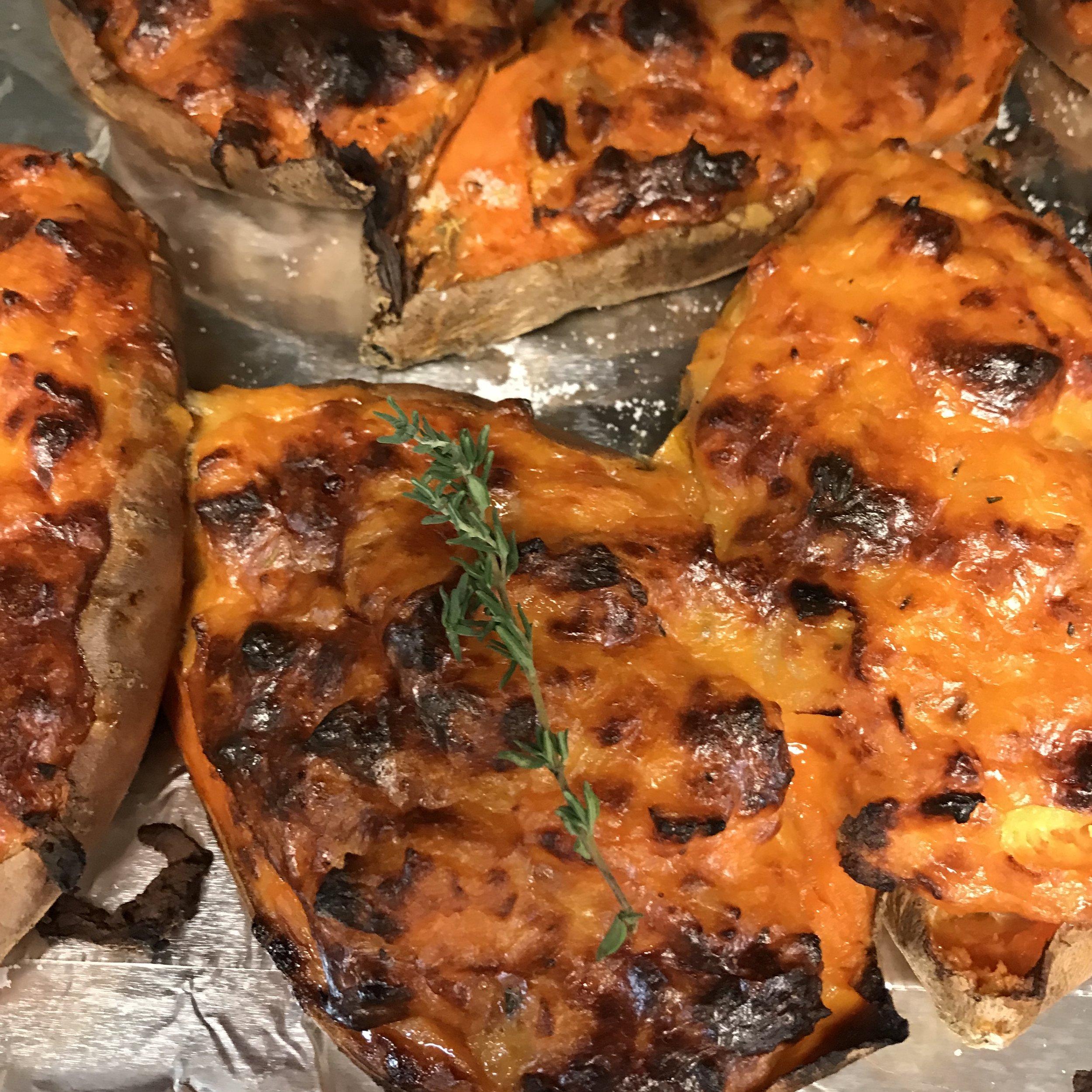 Twice Baked Sweet Potatoes . Make It Ahead . Week 23