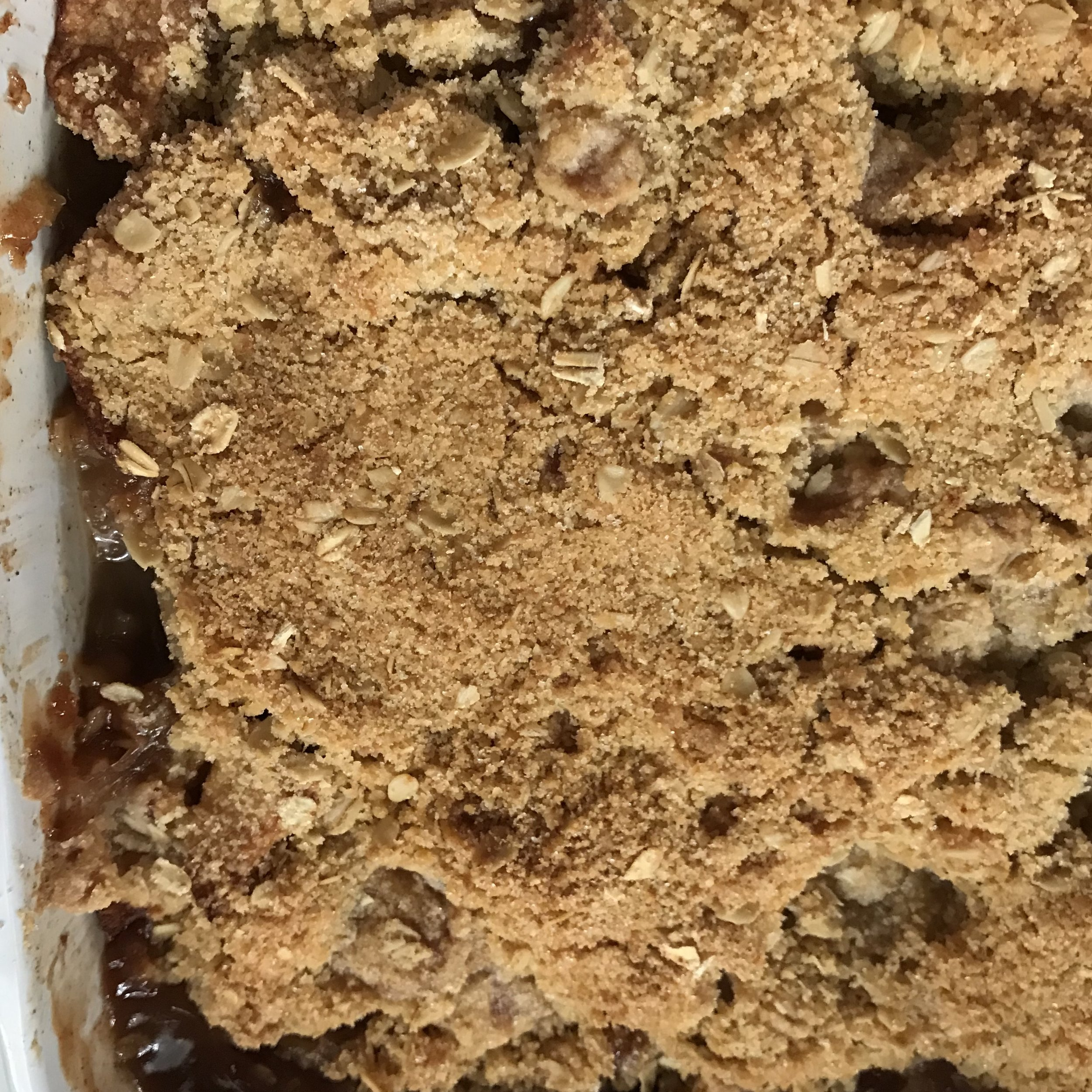 Old Fashioned Apple Crisp . Barefoot Contessa Parties! . Week 23