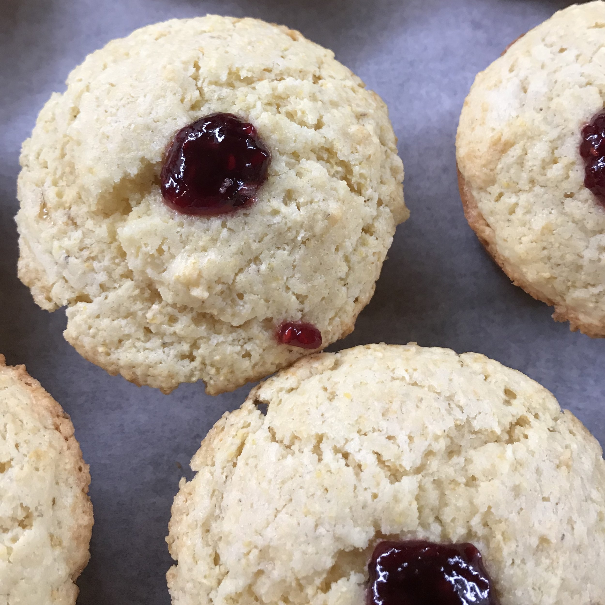 Raspberry Corn Muffins . Barefoot Contessa Cookbook . Week 23