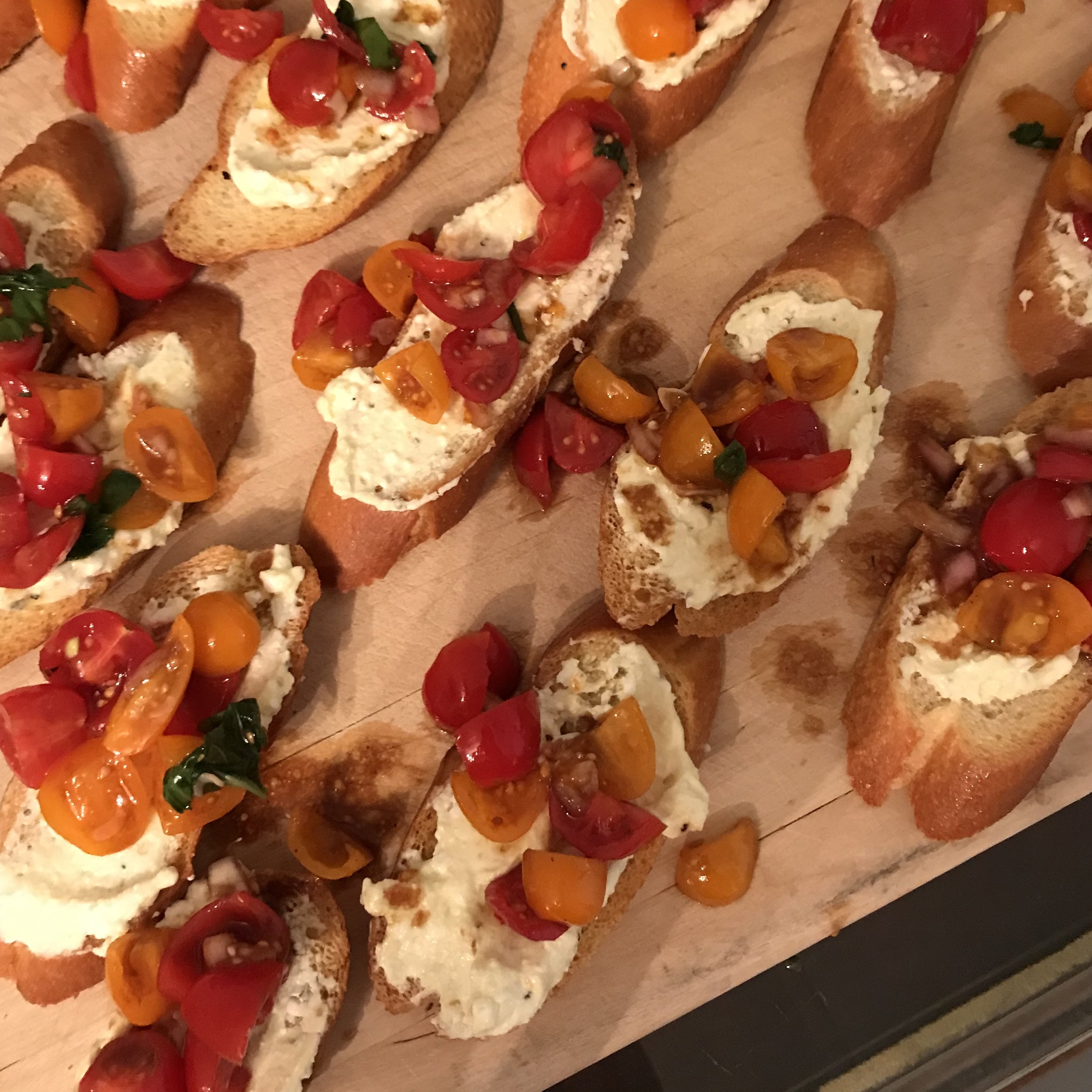 Tomato Crostini with Whipped Feta . Barefoot Contessa Foolproof . Week 24
