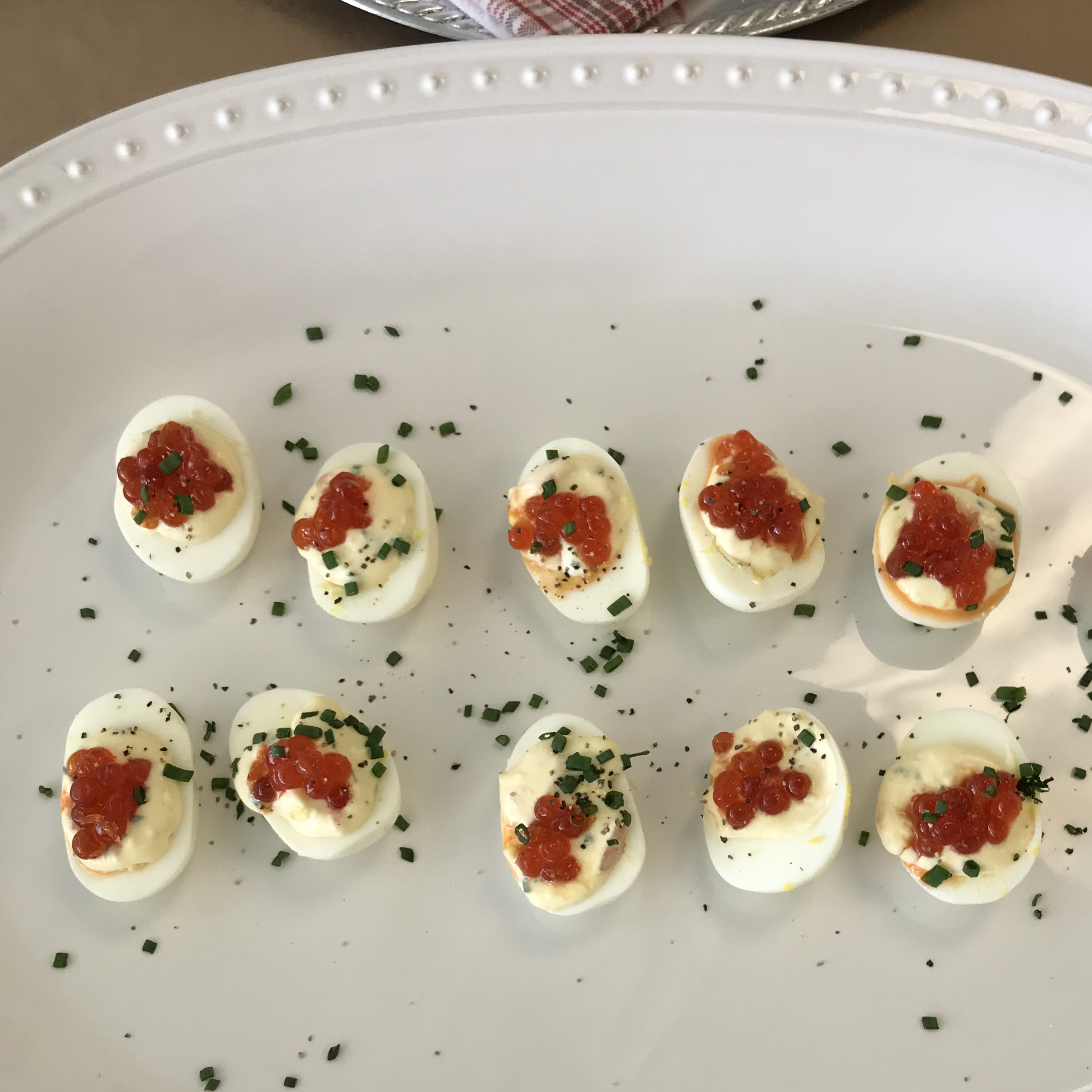 Smoked Salmon Deviled Eggs . How Easy Is That? . Week 24