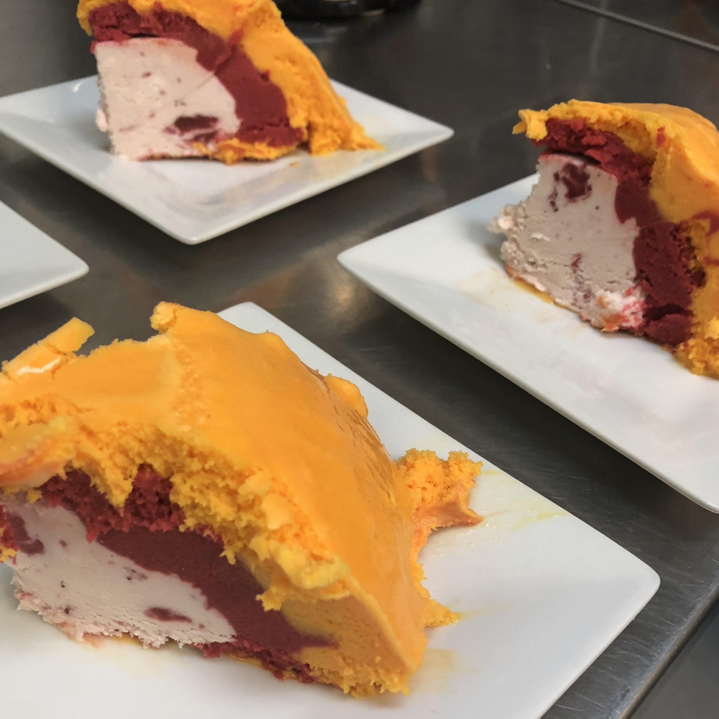 Ice Cream Bombe and Mango Sorbet . Barefoot in Paris . Week 26