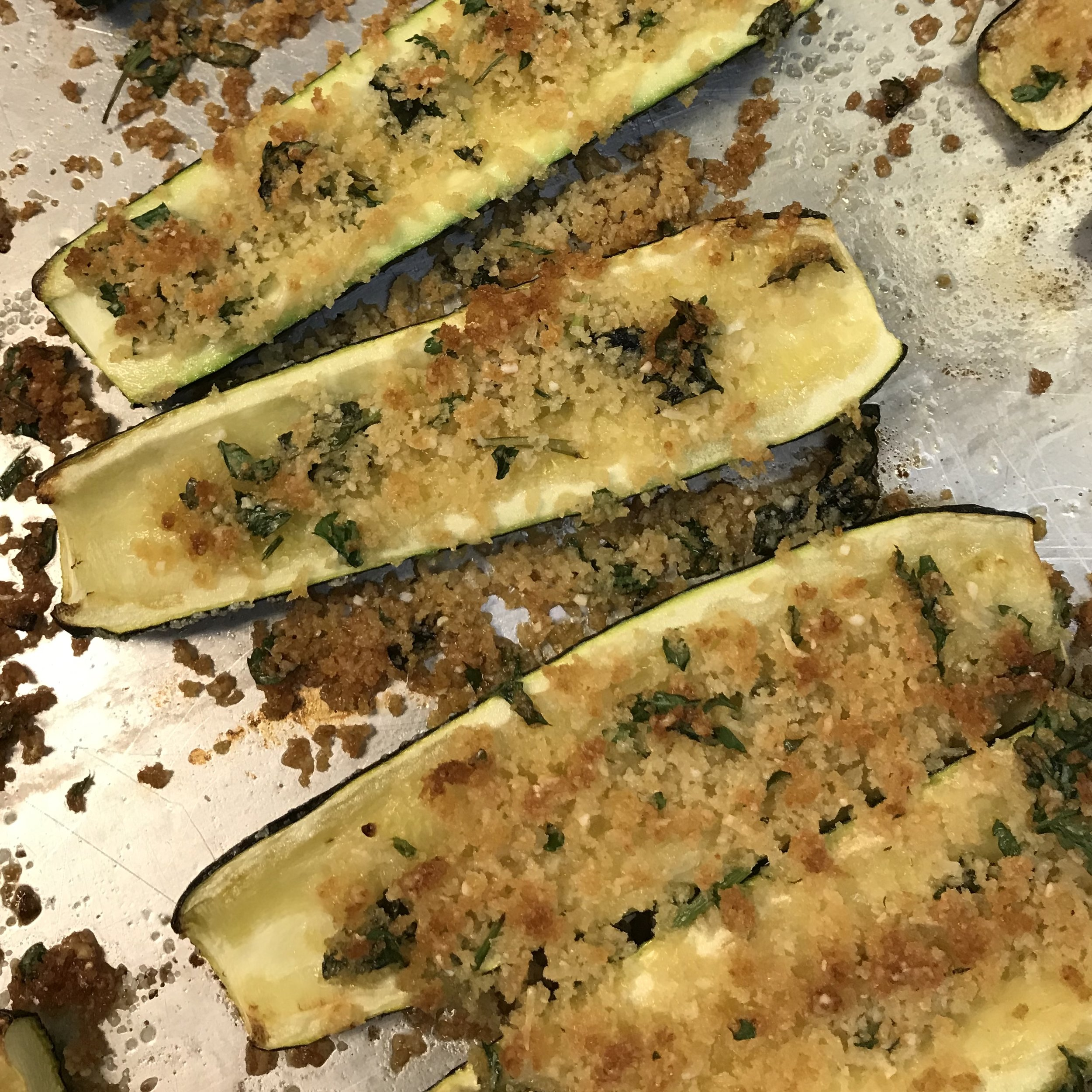 Parmesan Roasted Zucchini . Cooking for Jeffrey . Week 28