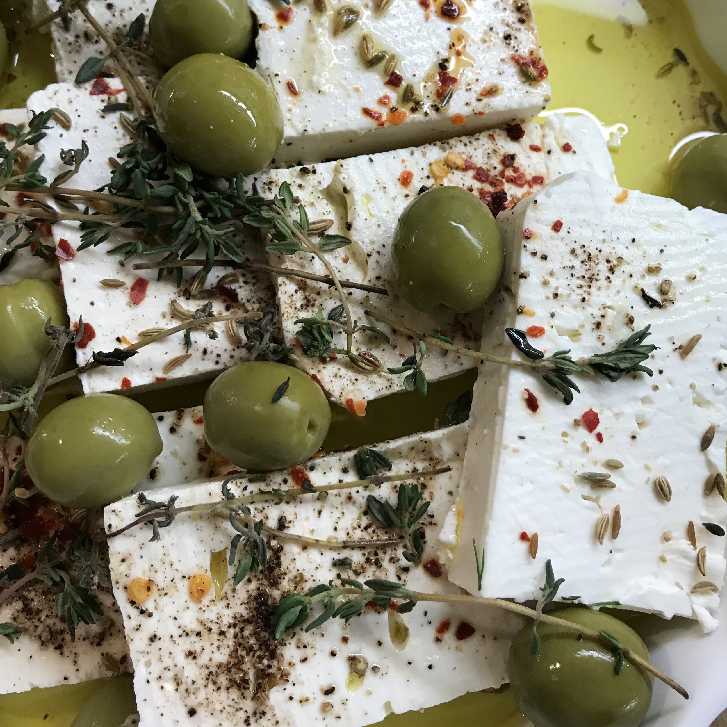 Marinated Herbed Feta . Make It Ahead . Week 30