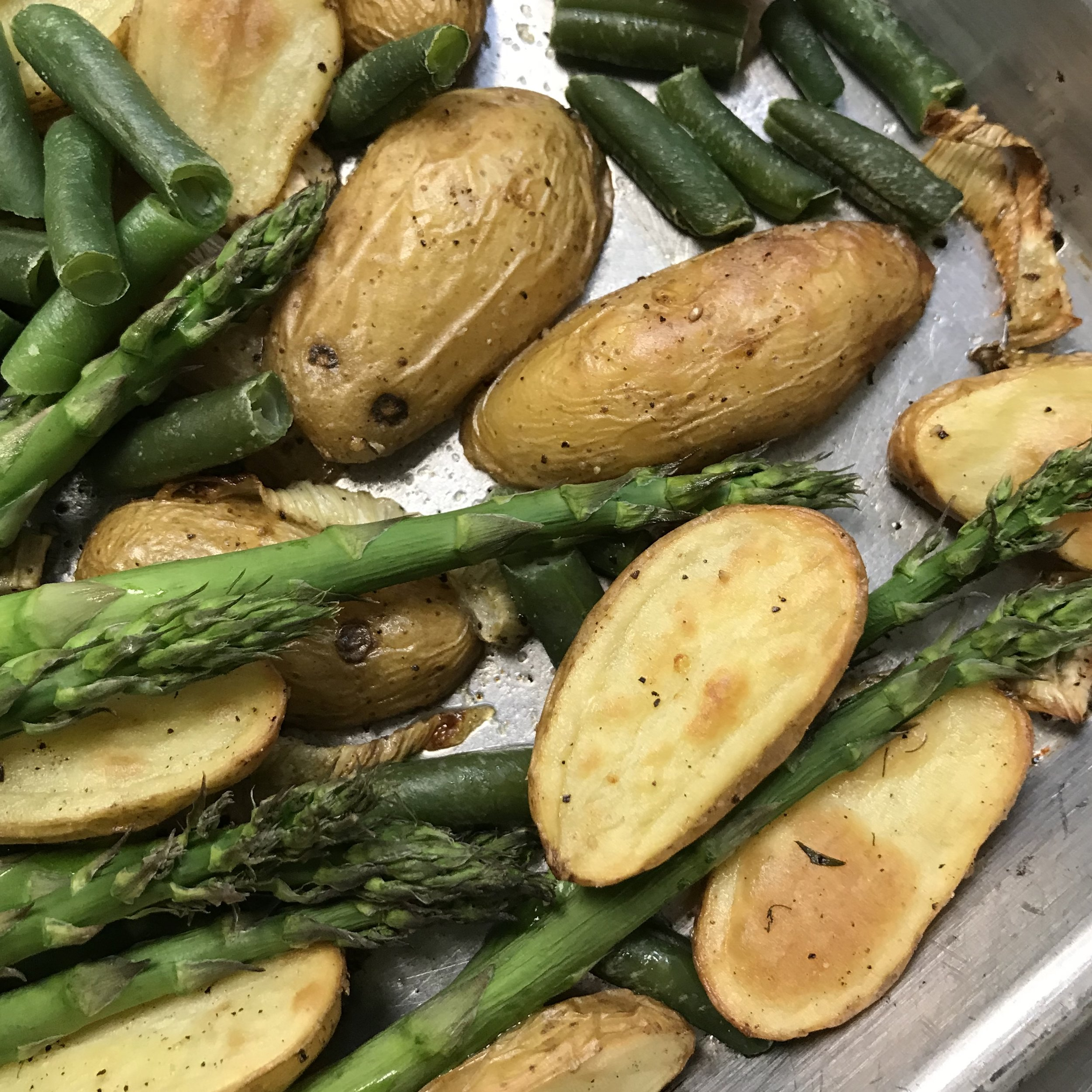 Oven Roasted Vegetables . Back to Basics . Week 30
