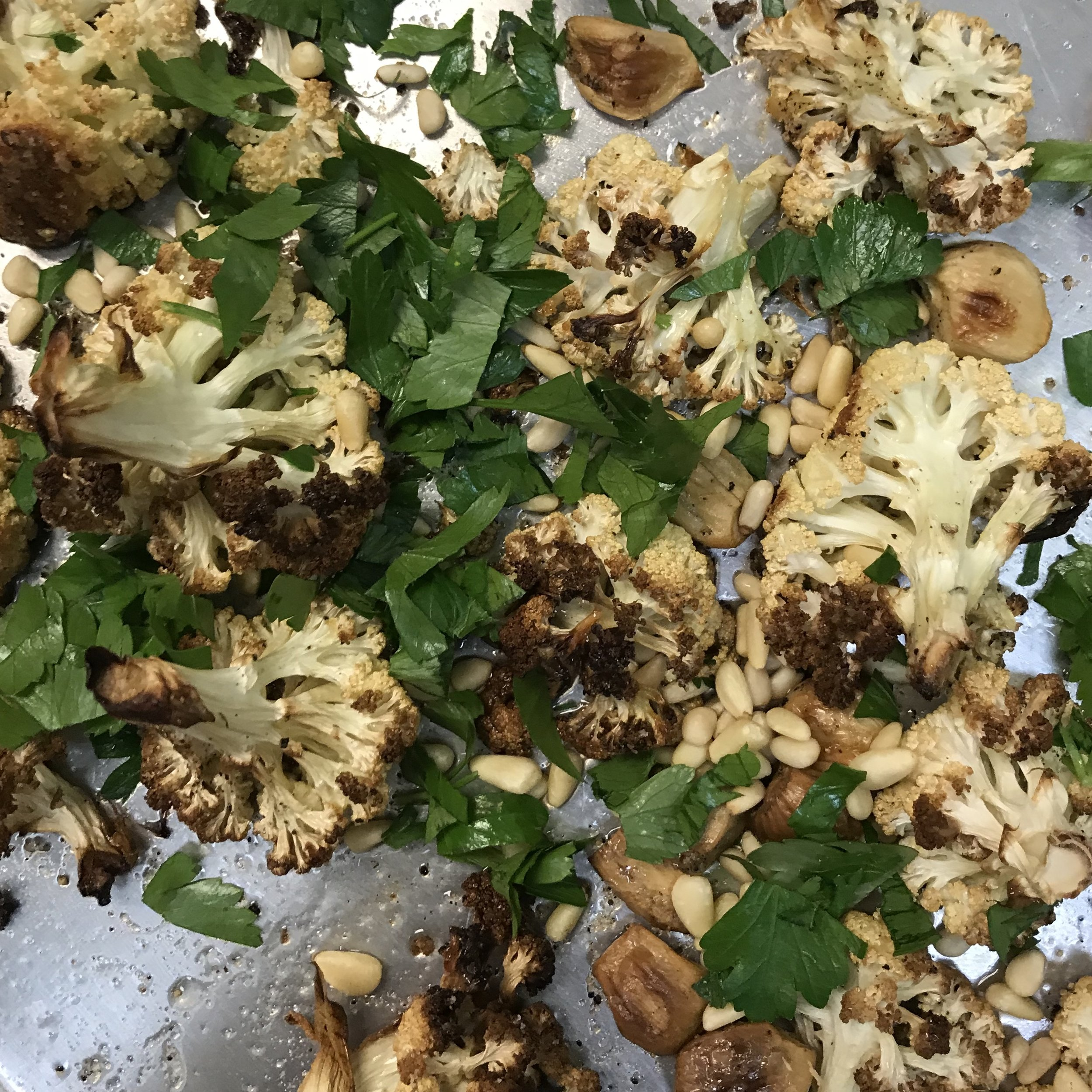 Garlic Roasted Cauliflower . How Easy Is That? . Week 31