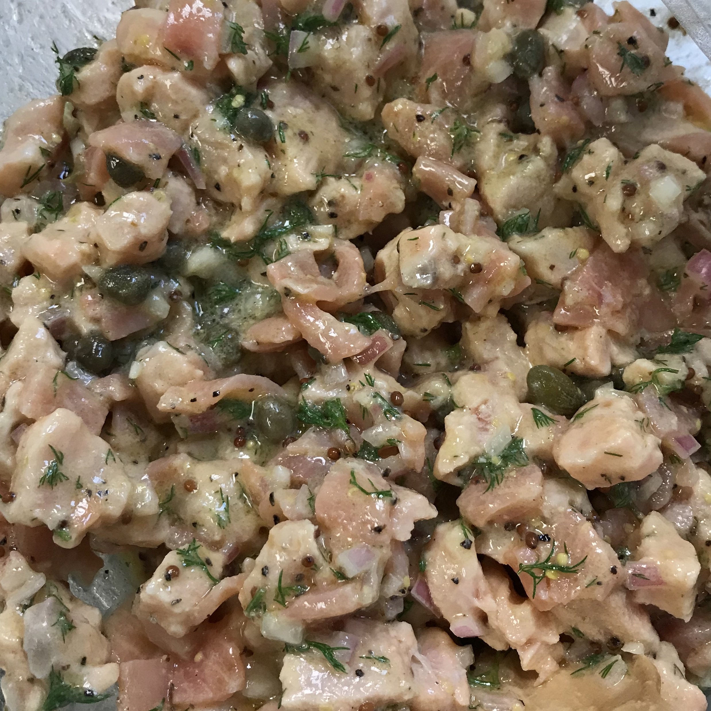 Fresh Salmon Tartare . How Easy Is That? . Week 33