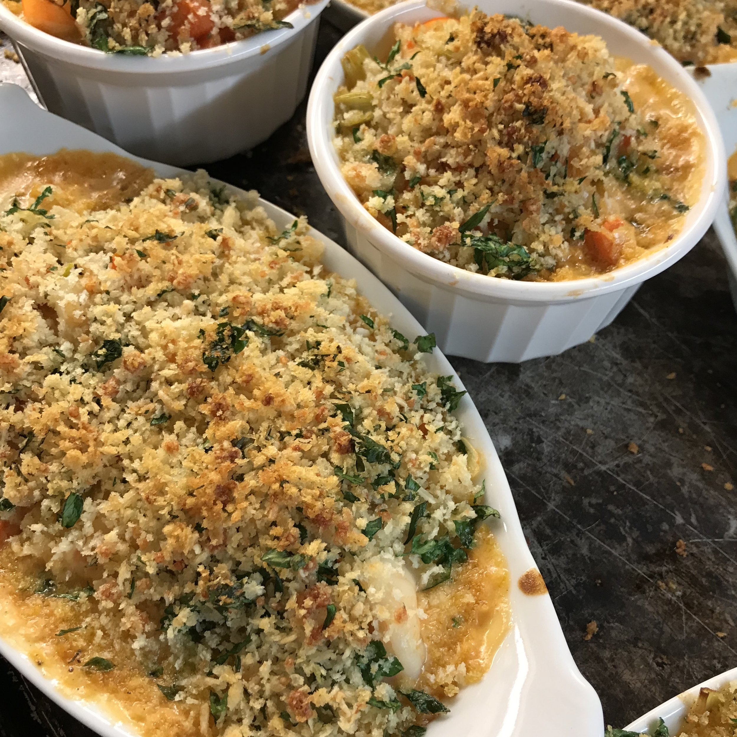 Seafood Gratin . At Home . Week 34