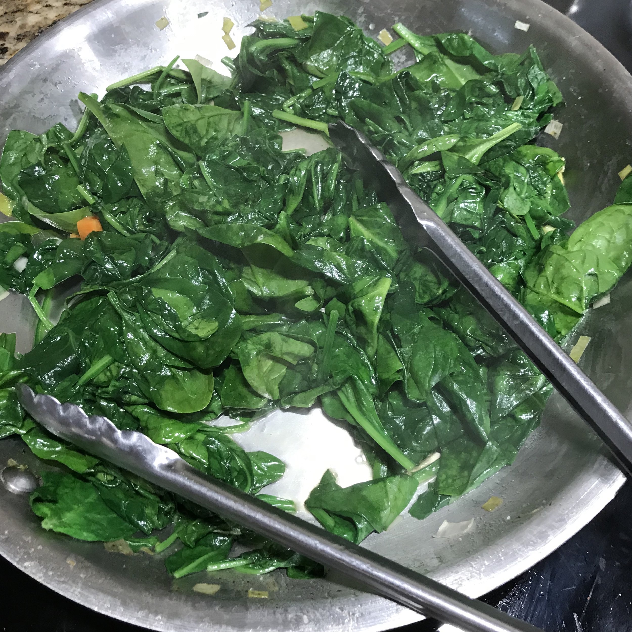 Garlic Sautéed Spinach . Family Style . Week 34