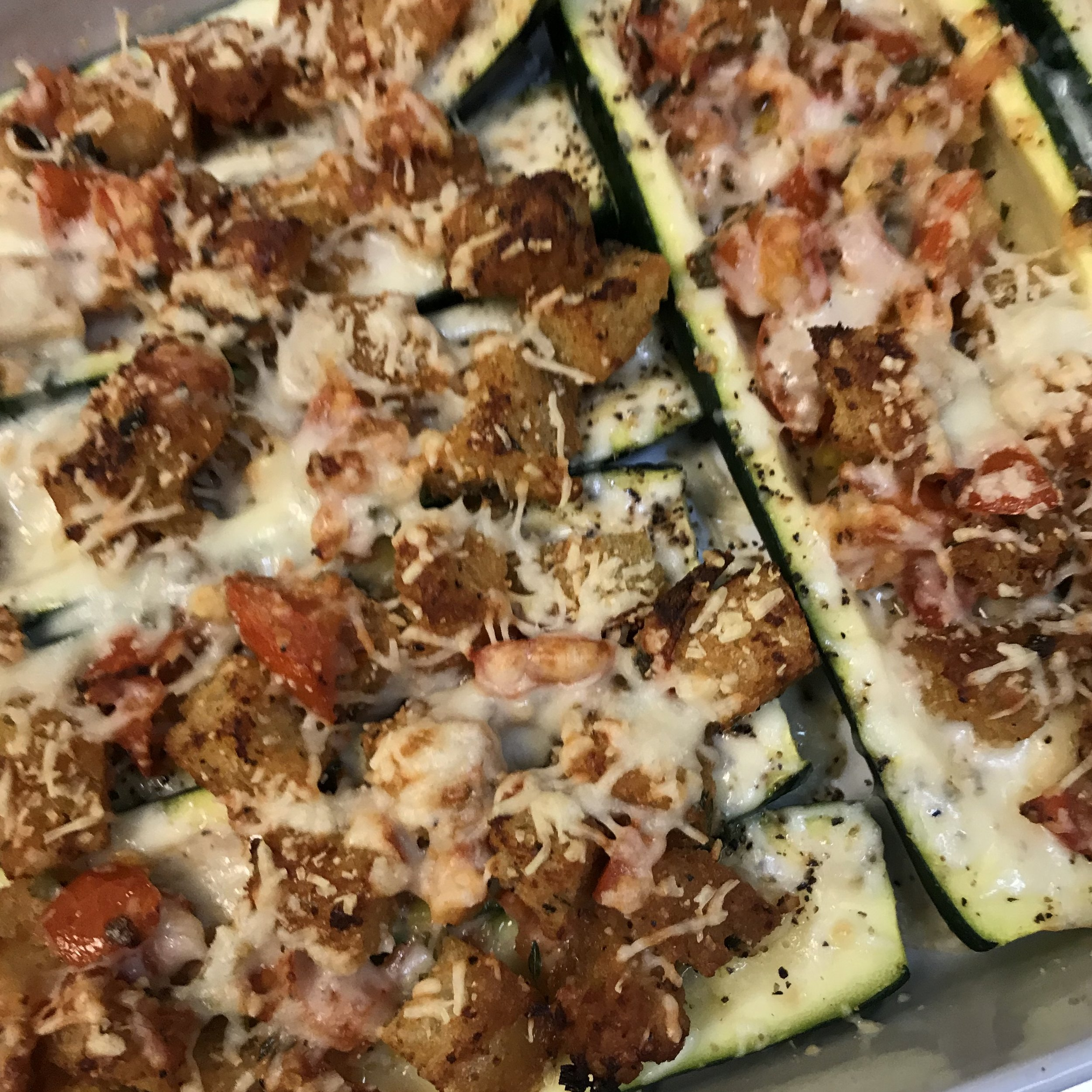 Stuffed Zucchini . Make It Ahead . Week 36