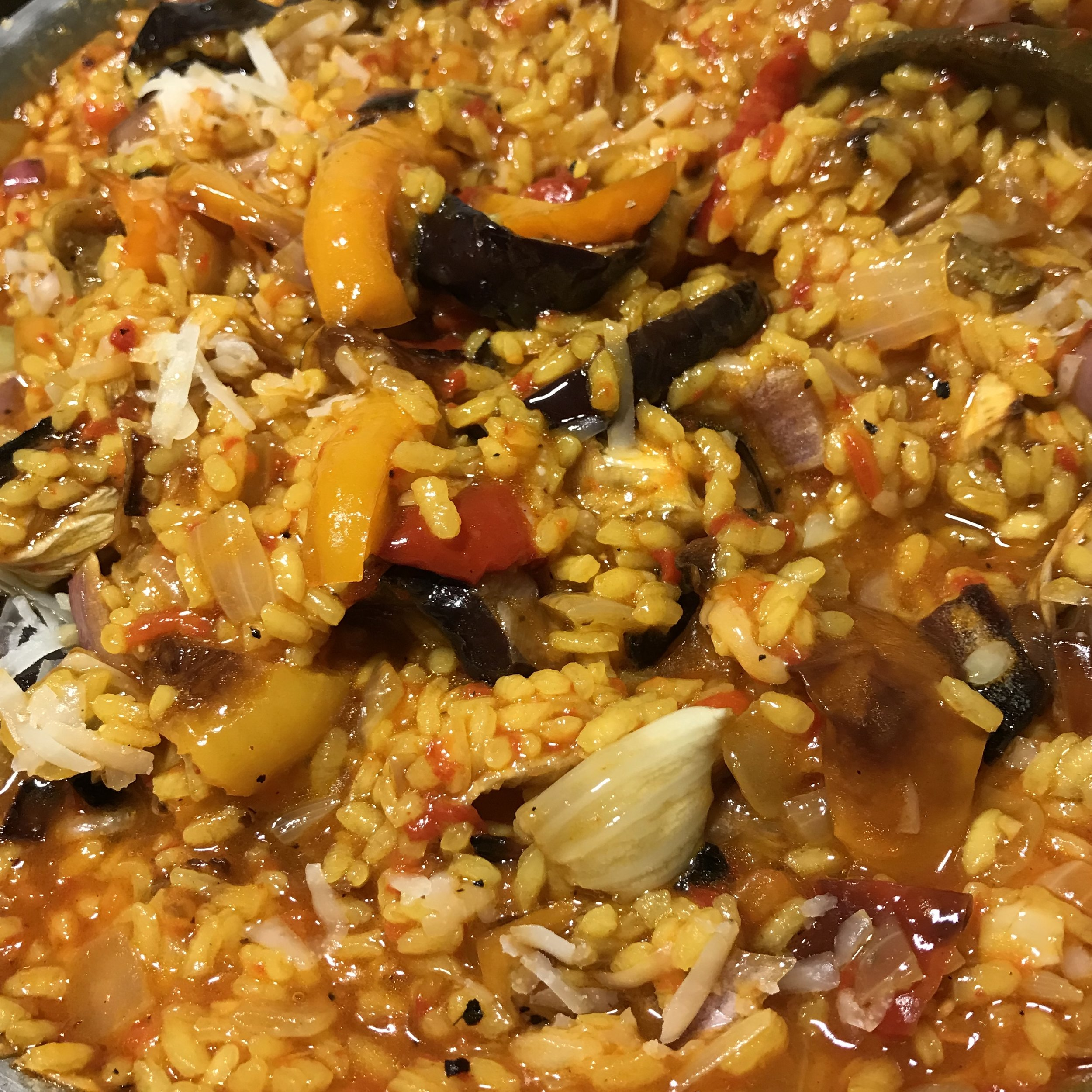 Roasted Vegetable Paella . Cooking for Jeffrey . Week 37