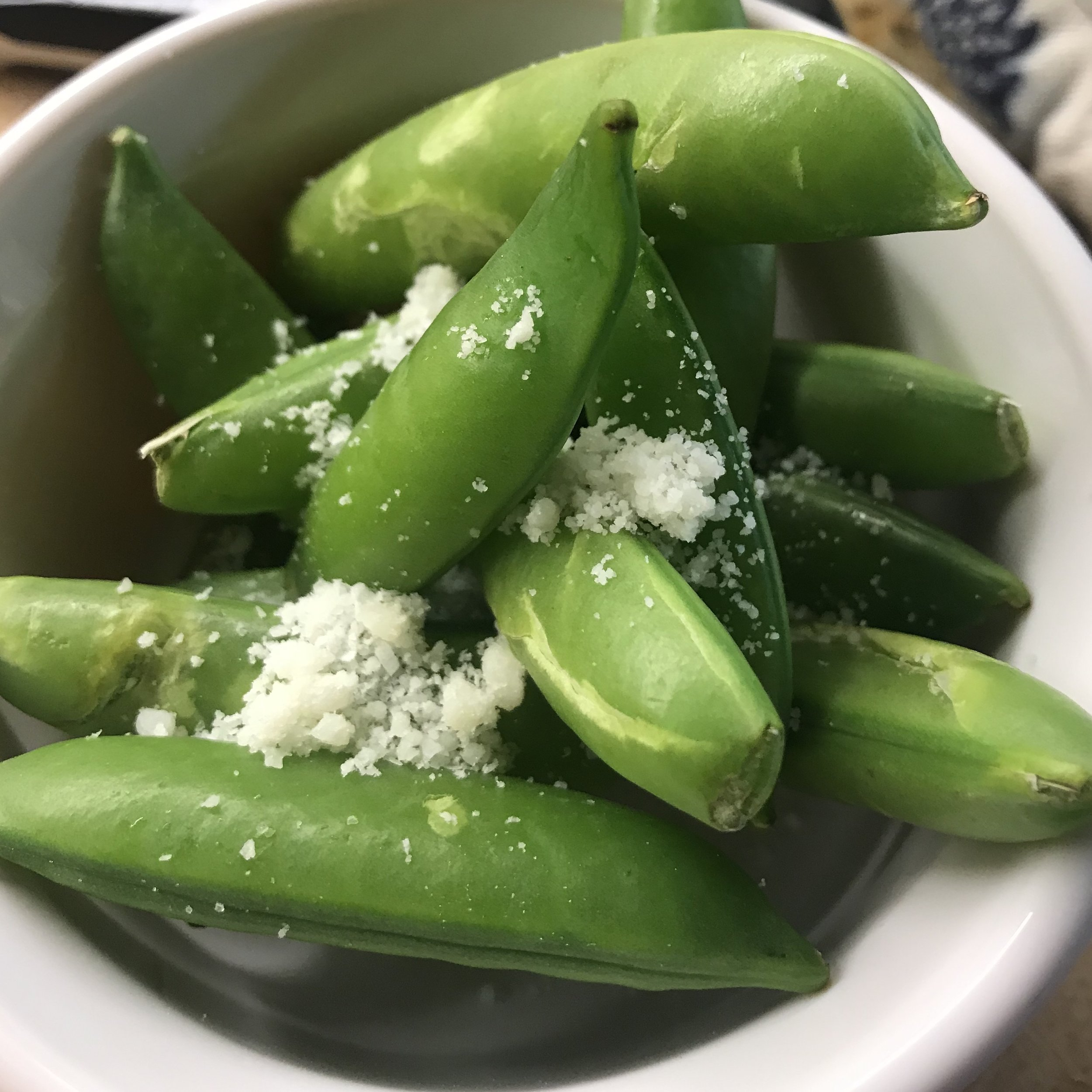 Flat Beans with Pecorino . How Easy Is That? . Week 38