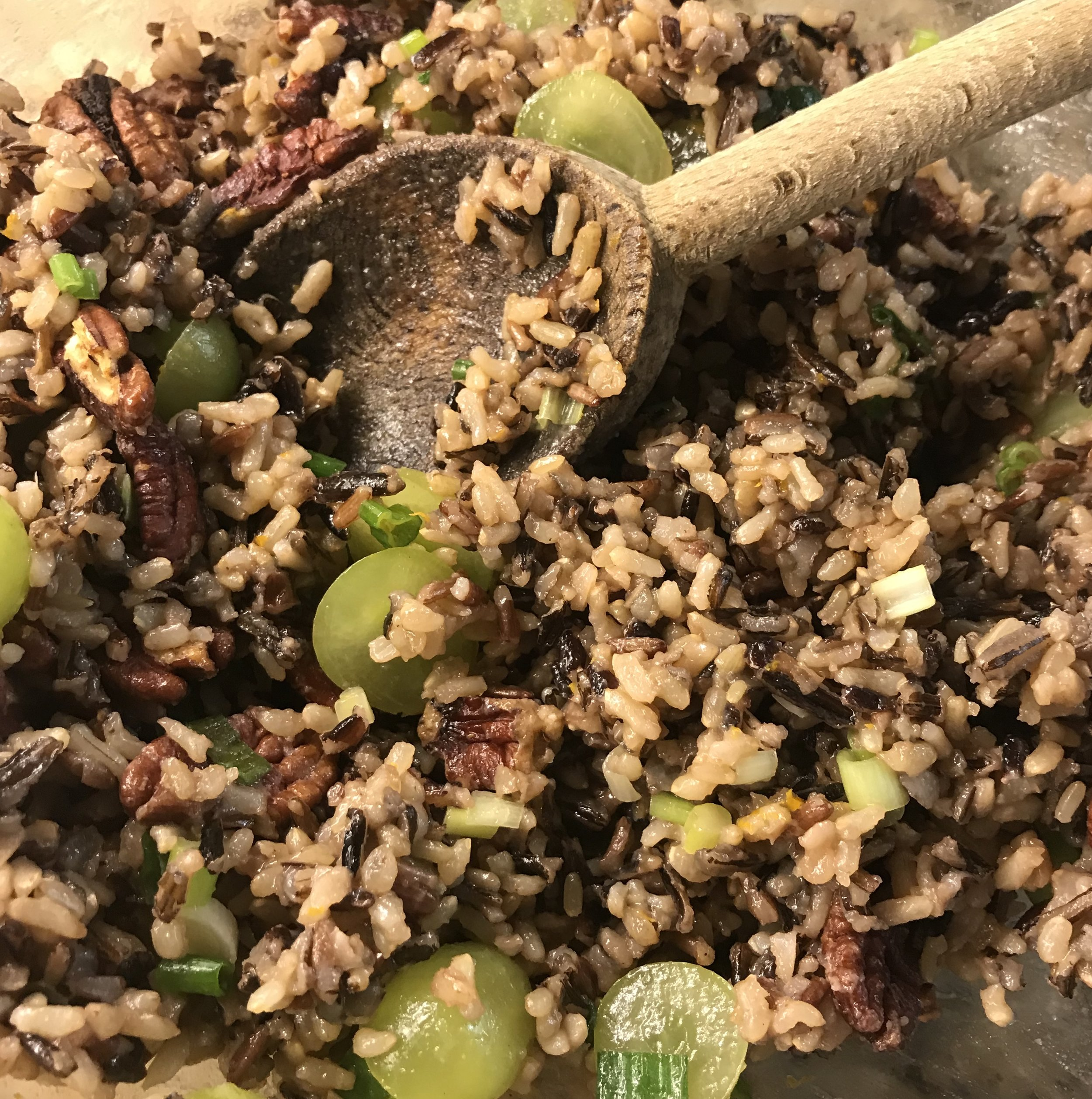 Orange Pecan Wild Rice . Back to Basics . Week 38