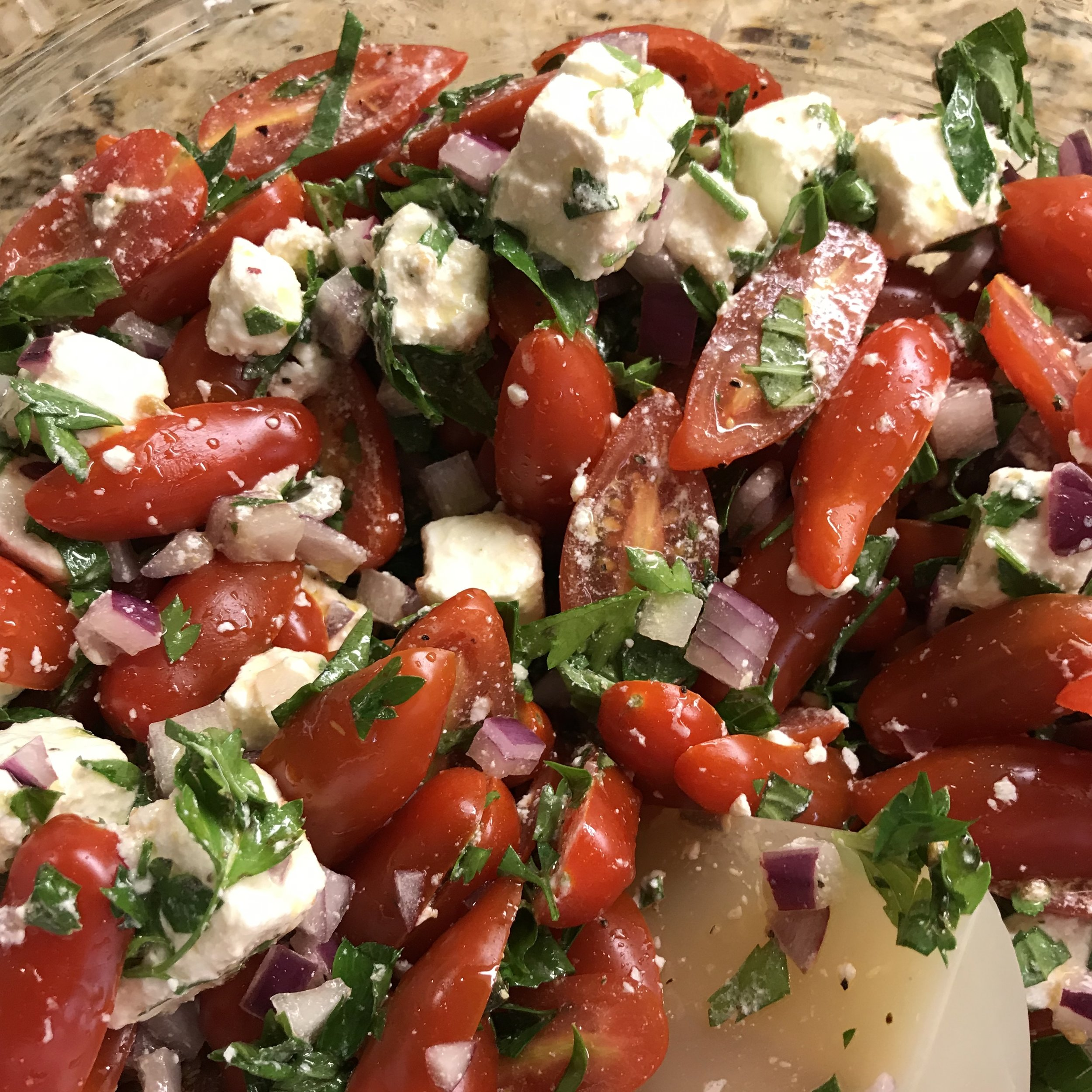 Tomato Feta Salad . At Home . Week 38