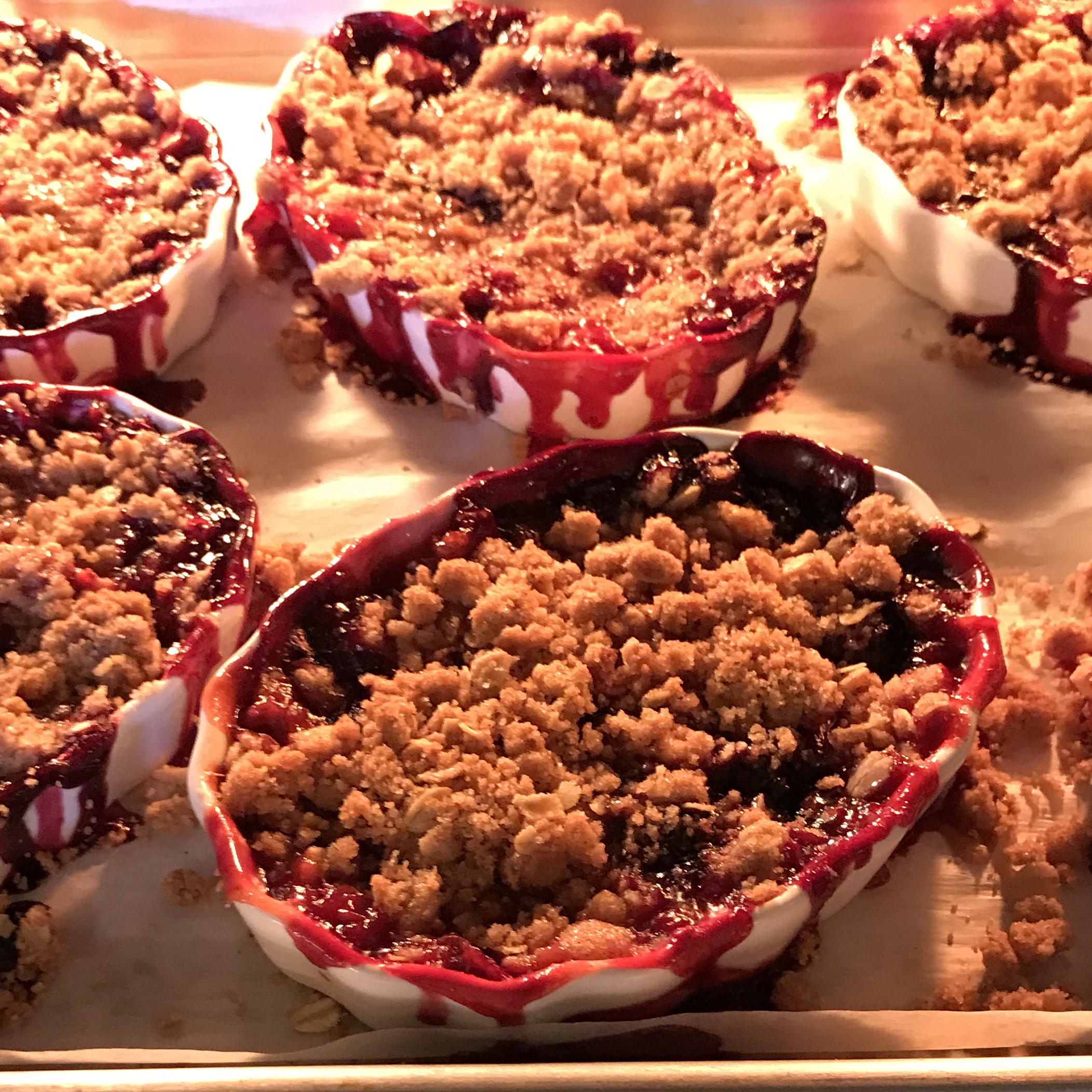 Tri Berry Crumbles . Make It Ahead . Week 38